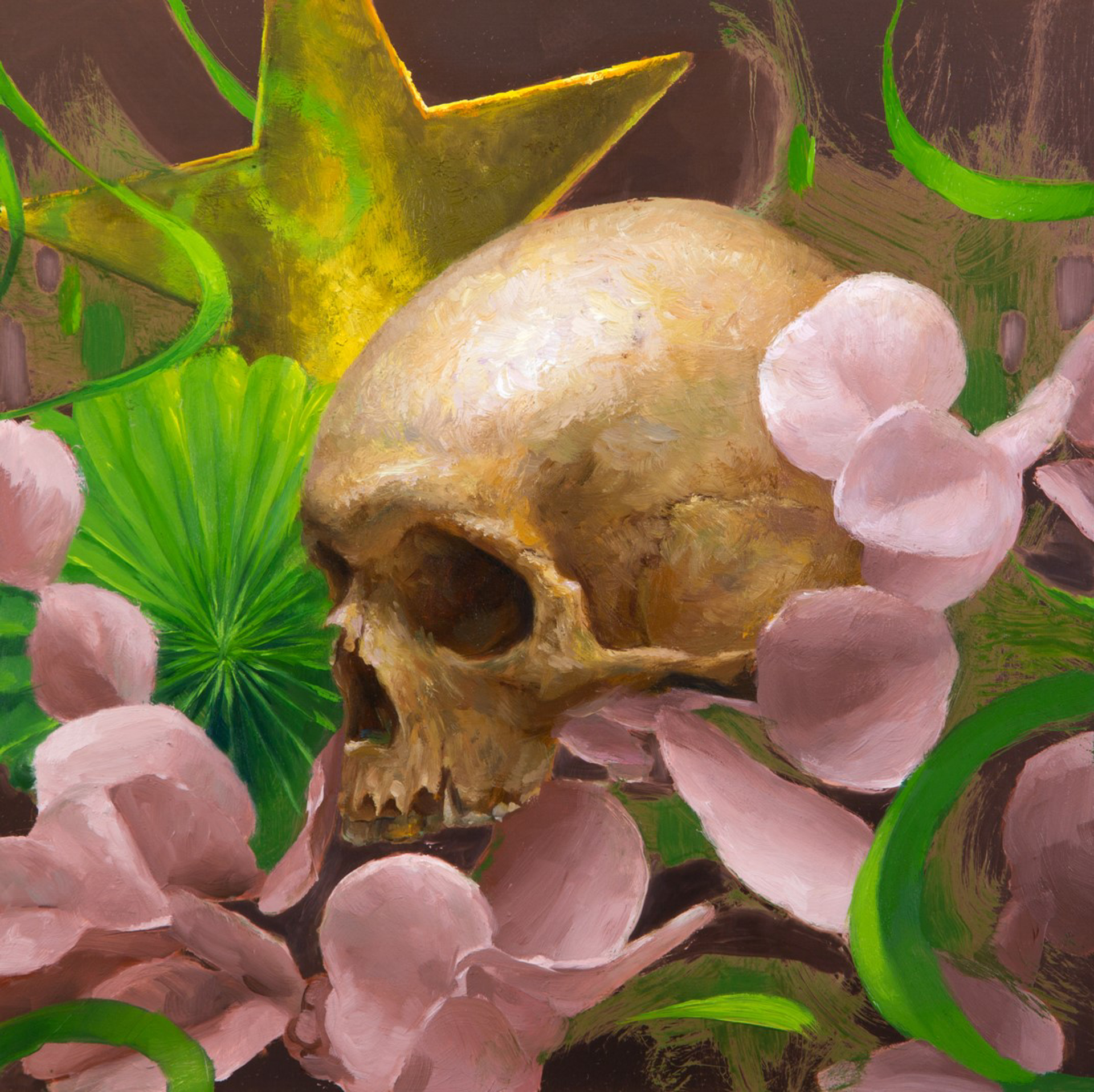 Party Skull #6 by Elizabeth Zanzinger