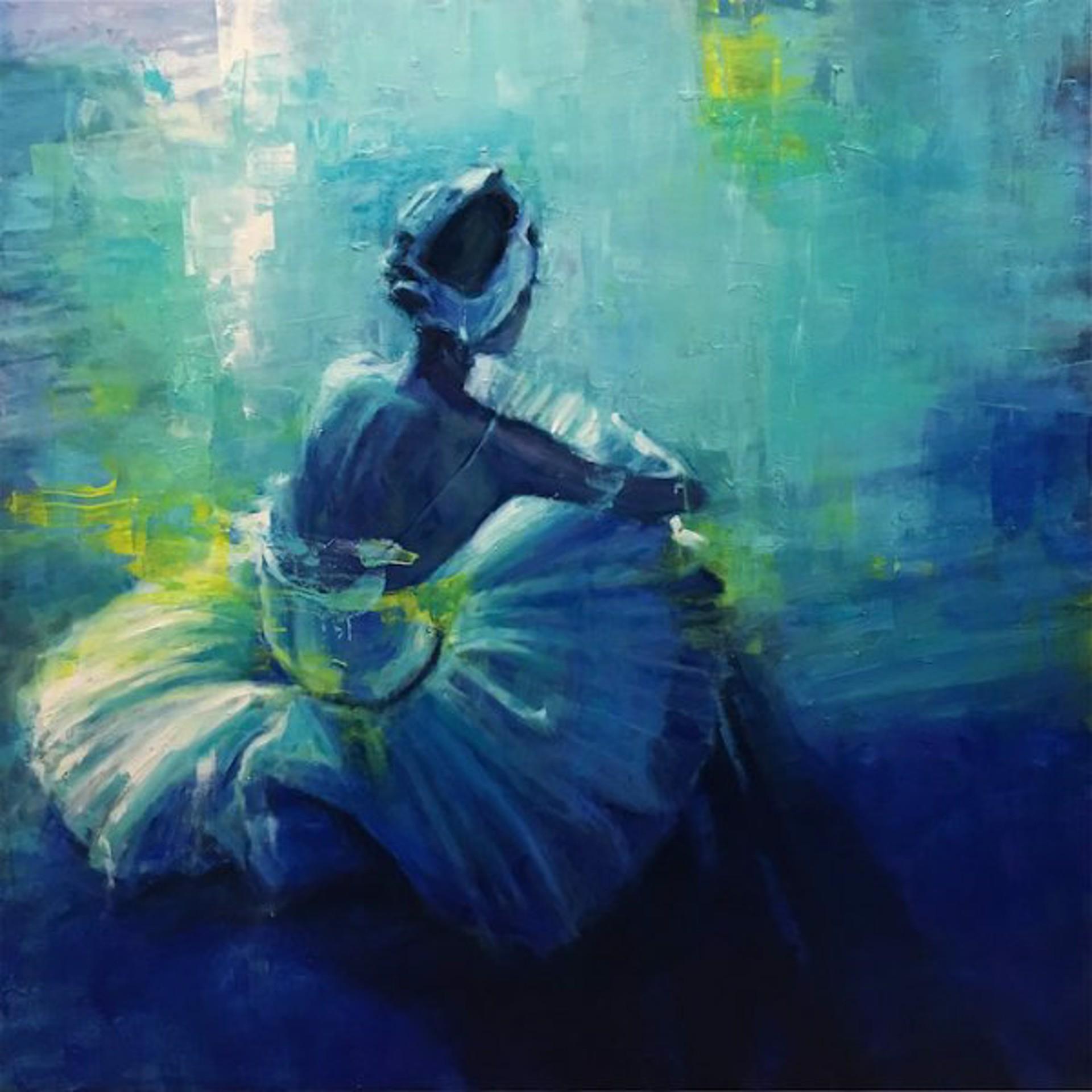 Pil Ho Lee: Repose In Blue by Pil Ho Lee