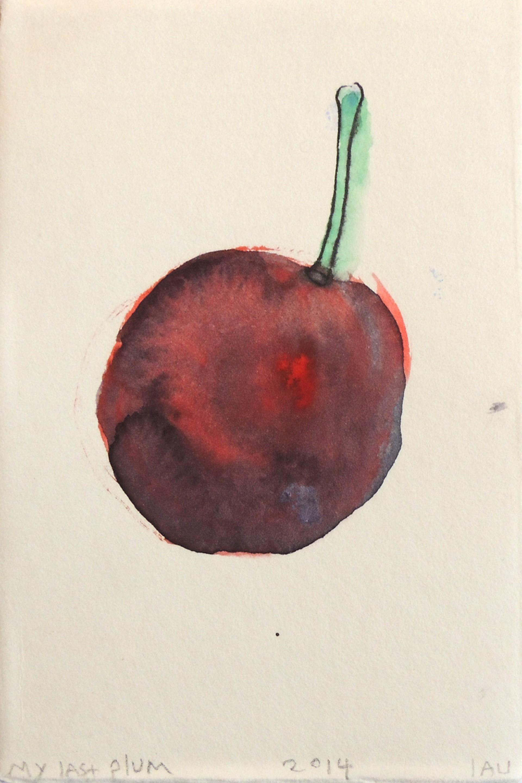 my last plum by Alan Lau   Small Works