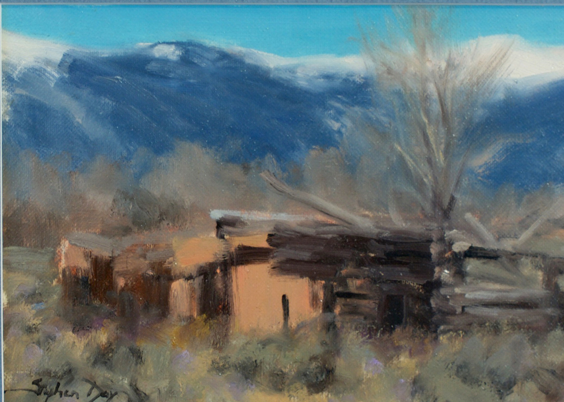 Old Adobe Near Taos by Stephen Day