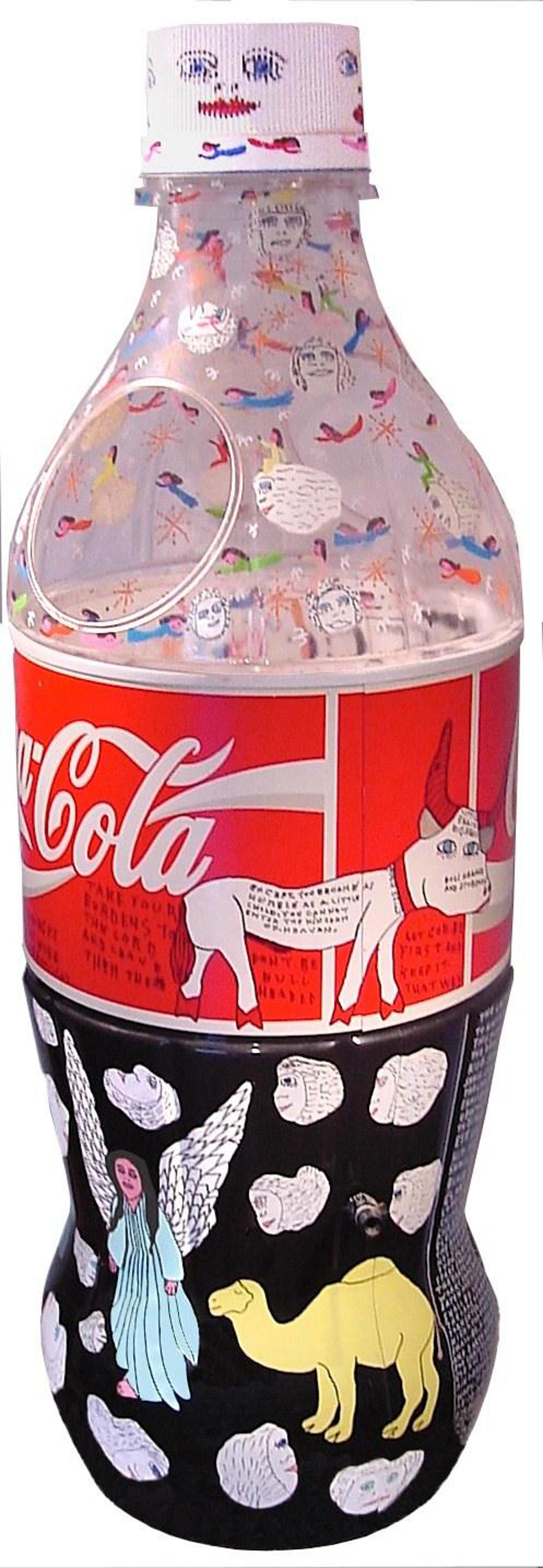 3-D POP Coke Bottle by Howard Finster
