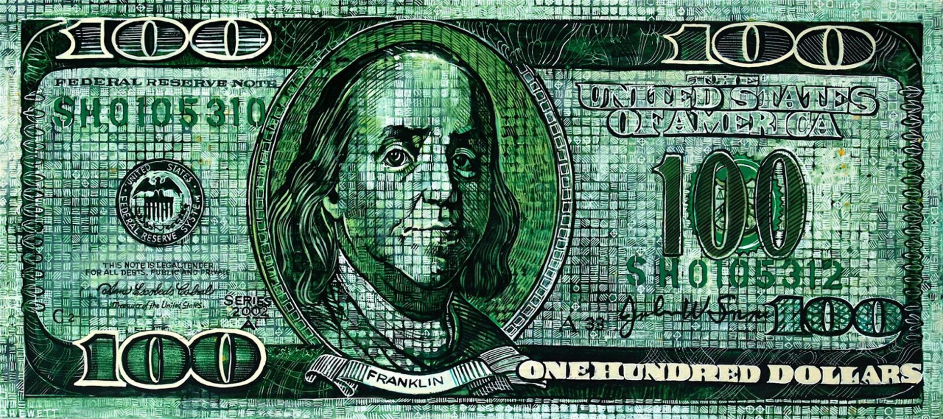 100 Dollar Bill by Scott Hewett
