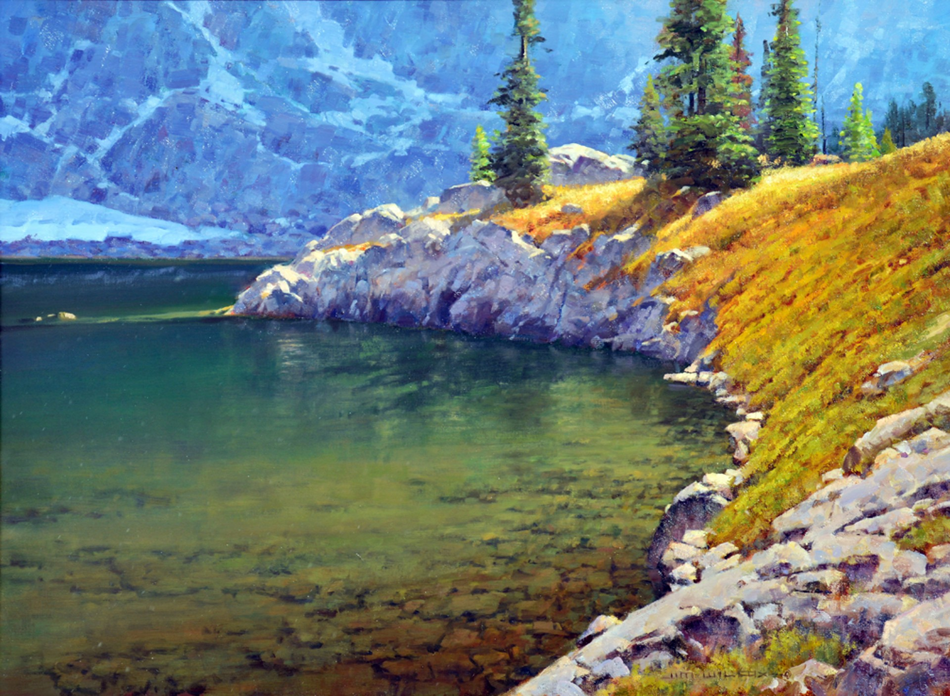 Lake Solitude Point by Jim Wilcox