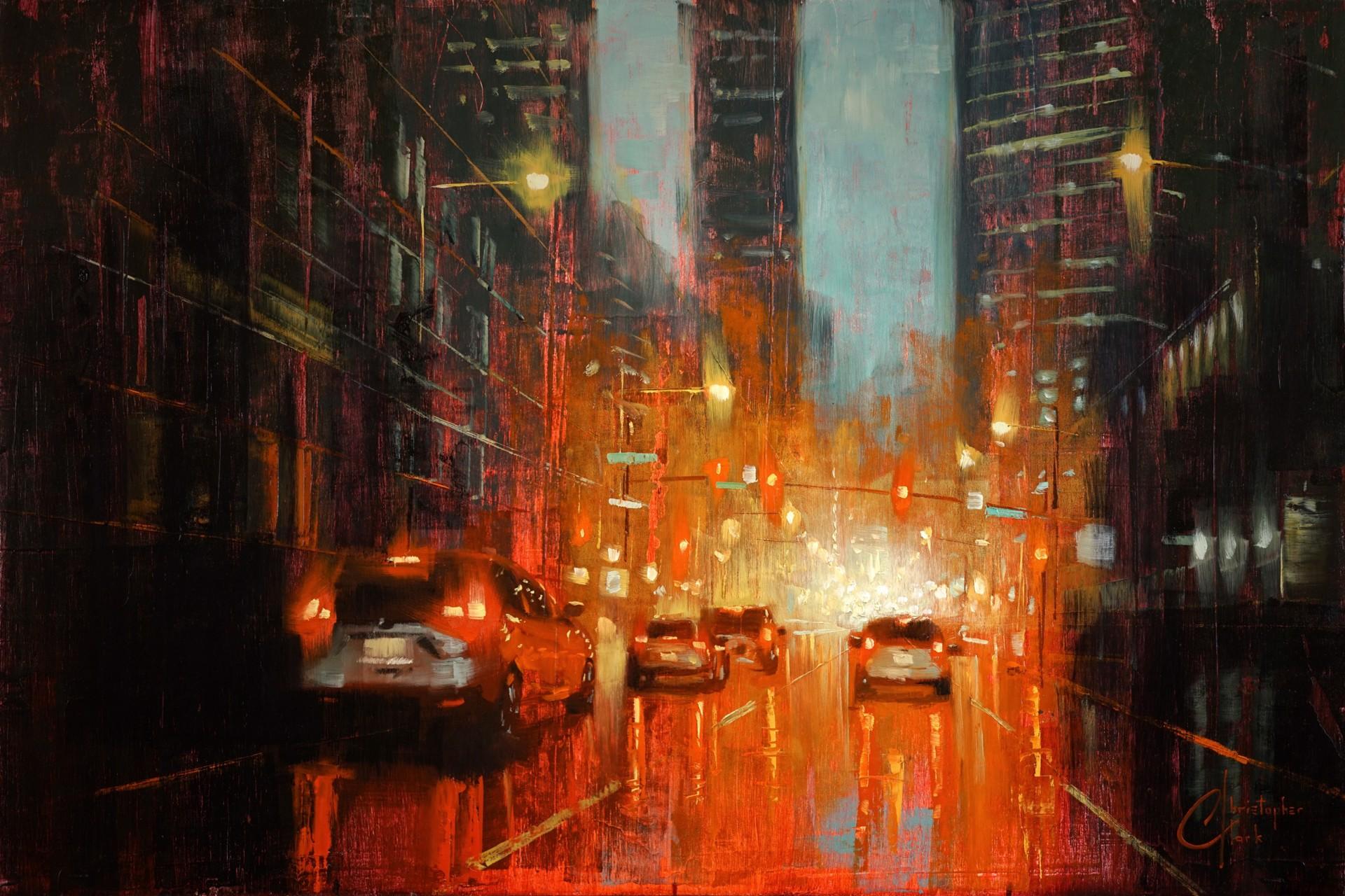 Denver - City Lights by Christopher Clark