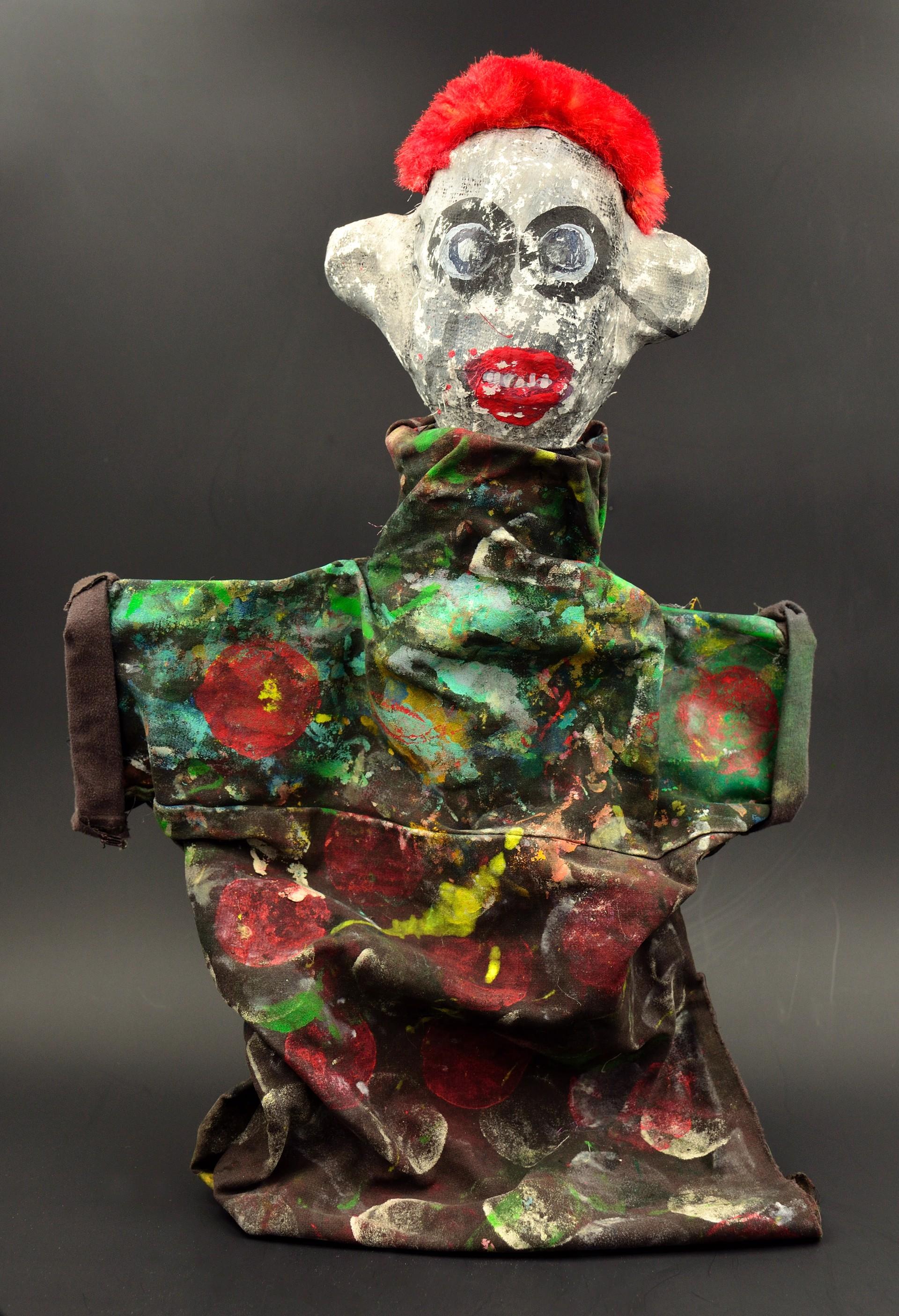 Clown Apocalypse (white #1) by Laura Castellanos