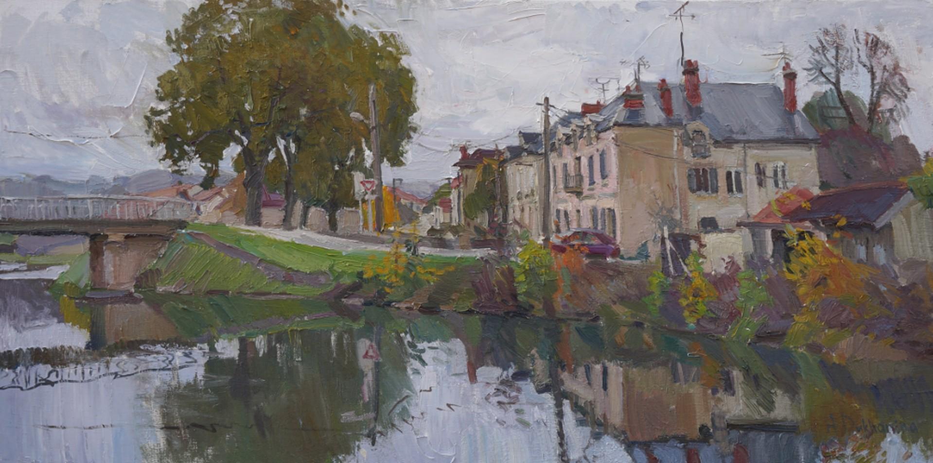 Ravieres in November by Anastasia Dukhanina