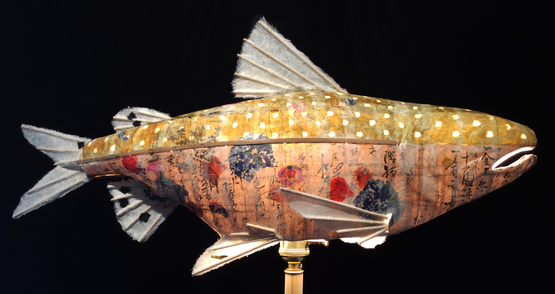 White Pebble Peace Salmon by Elaine Hanowell