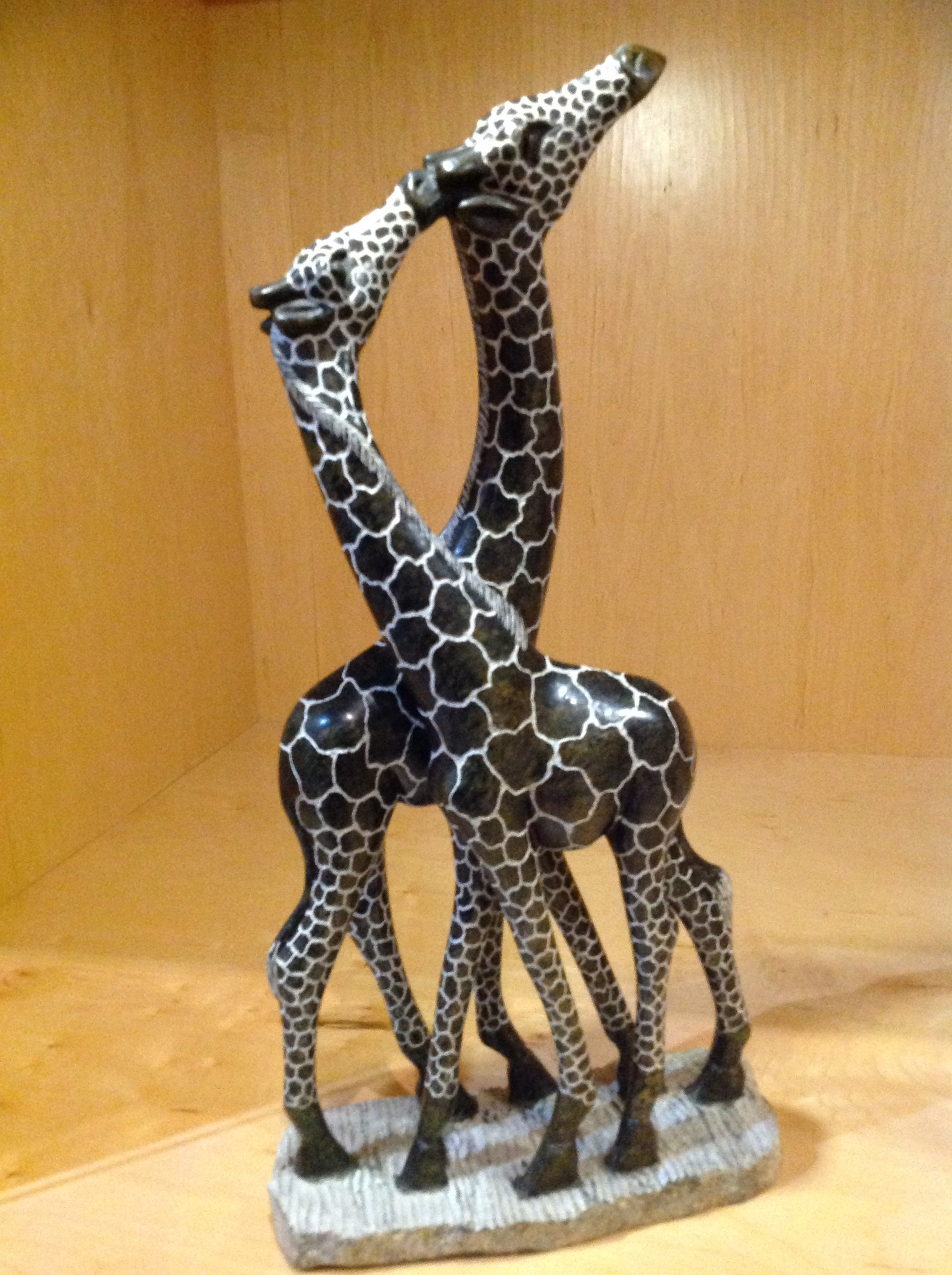 """Kissing Giraffes by Stone Of Shona Lloyd Ngwaru"