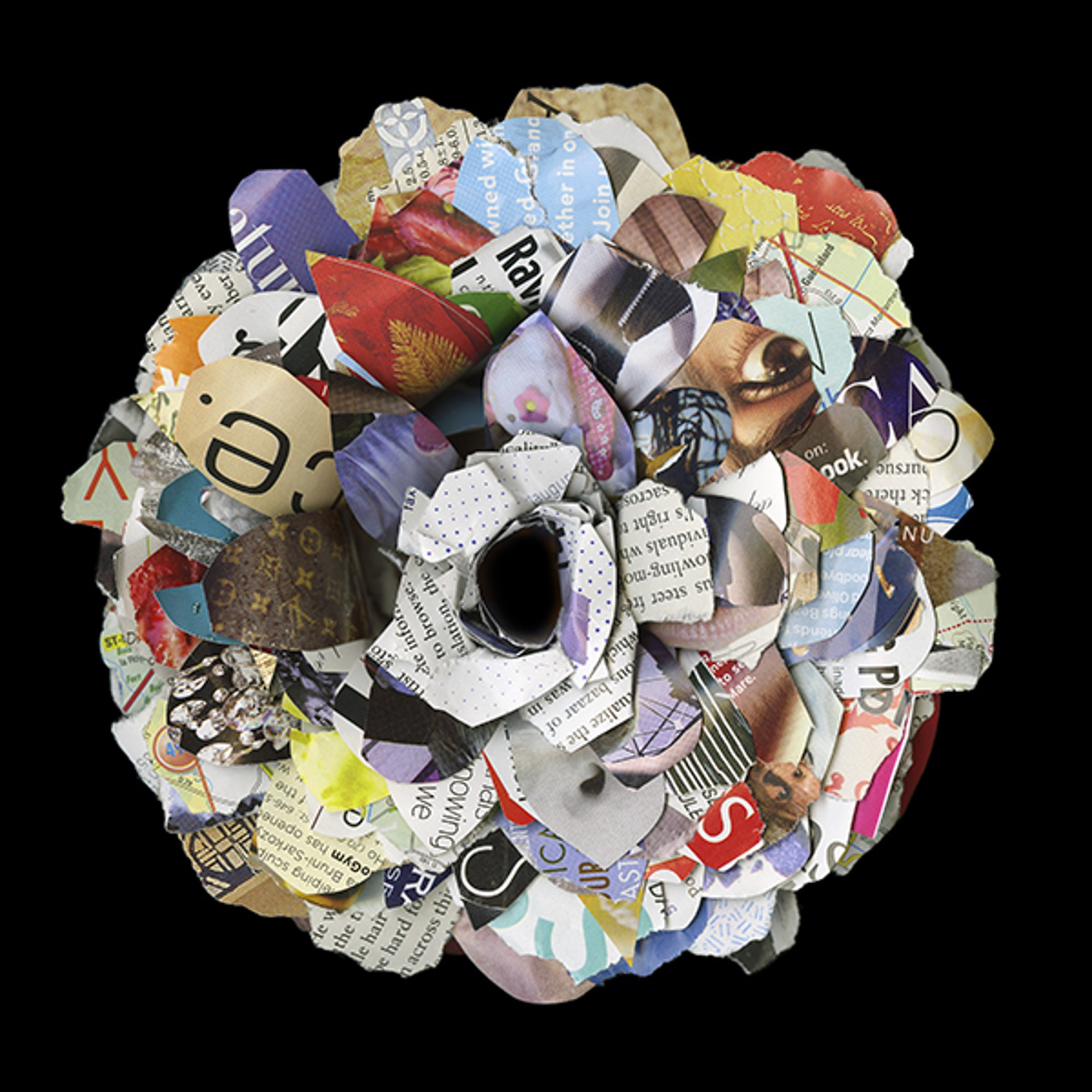 Detritus Recycled by Cara Barer