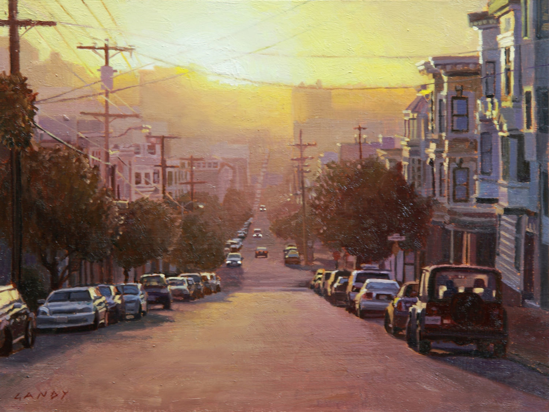 Sunset over the Marina District by Greg Gandy