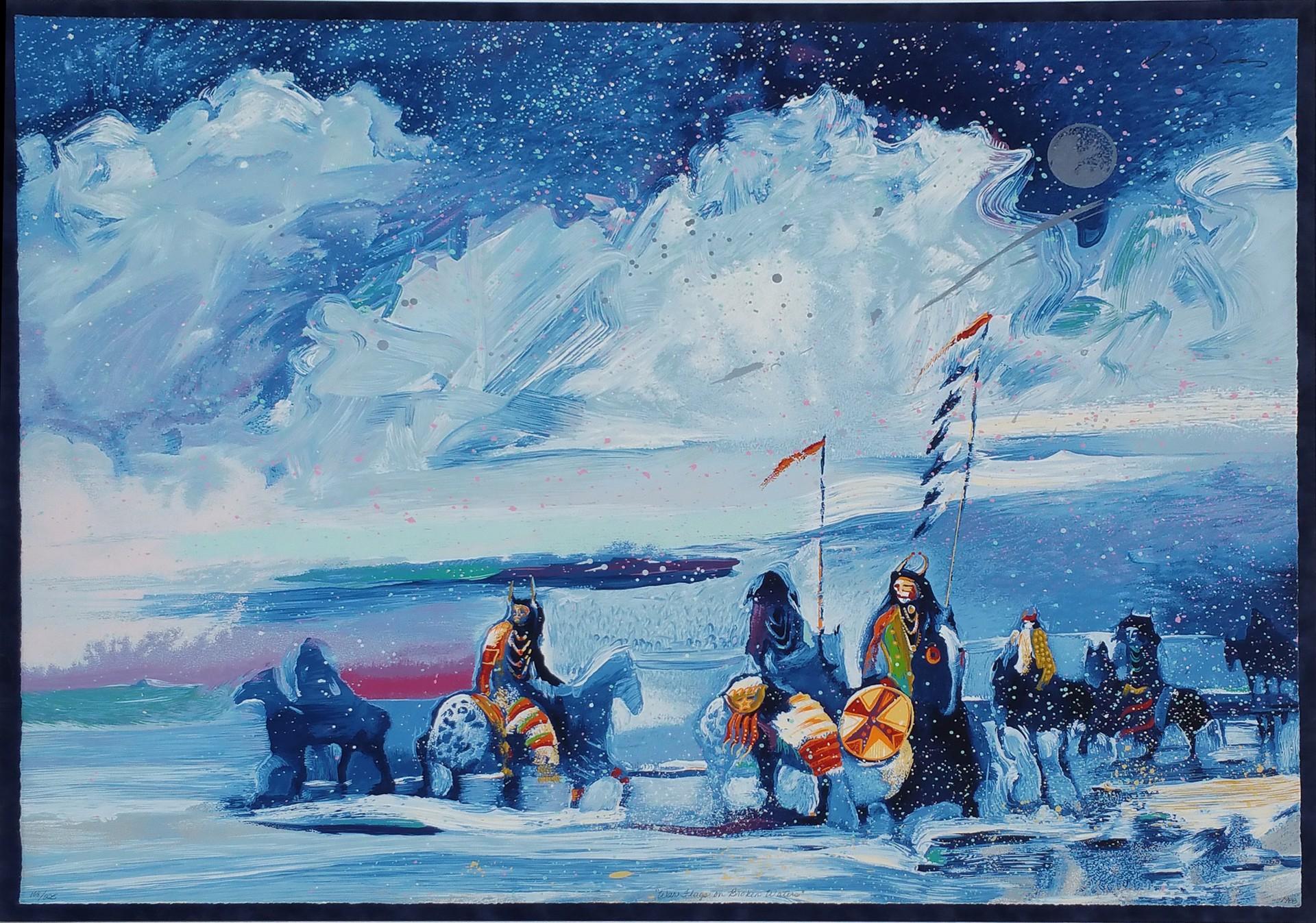 War Flags on Broken Waters by Earl Biss