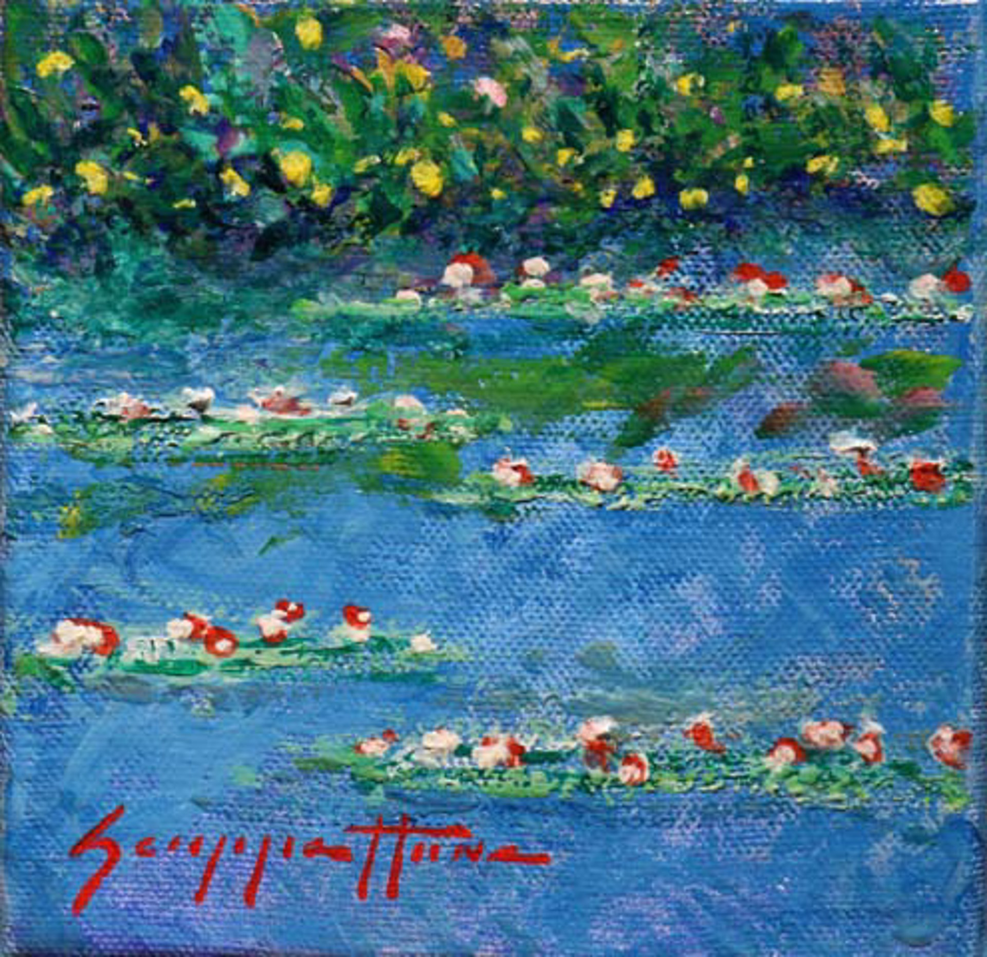 Lilies Along The Bank by James Scoppettone