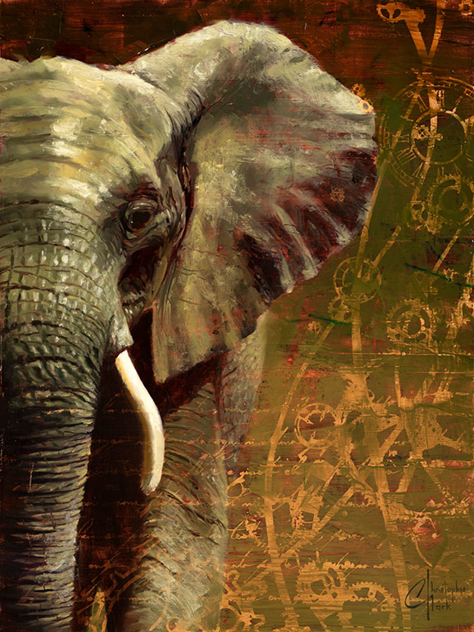 Being an Elephant Isn't Easy by Christopher Clark