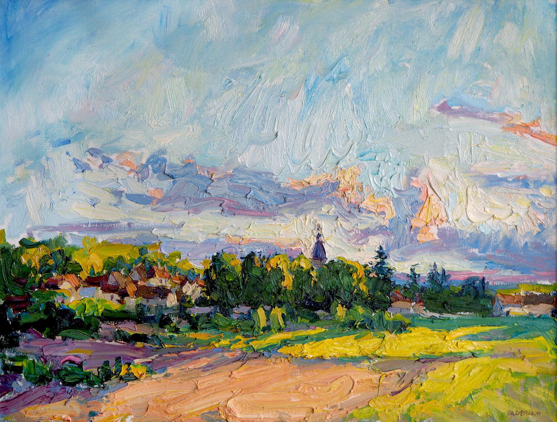 Ravieres Sunset by Antonin Passemard
