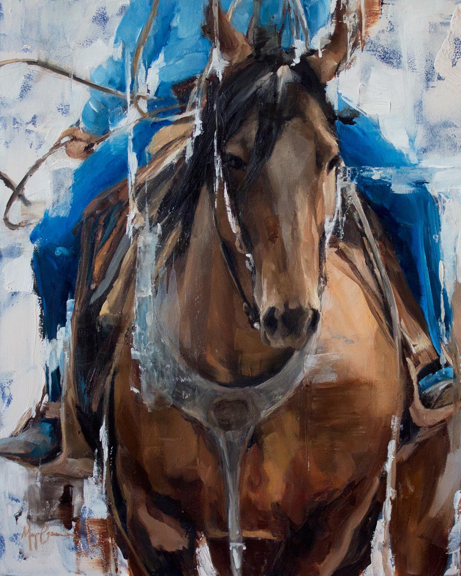 Roping Horse by Morgan Cameron