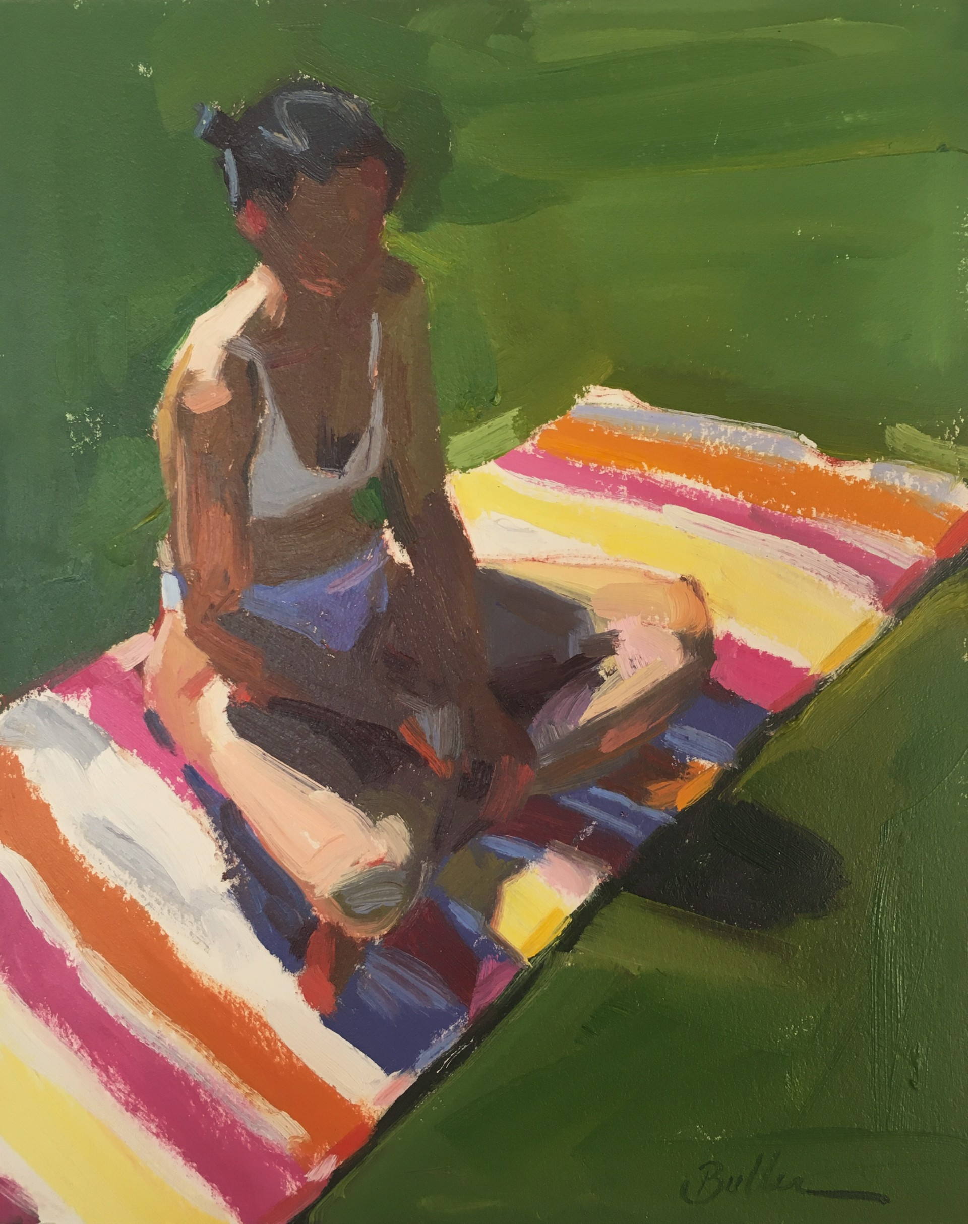 On the Lawn in the Sunlight by Samantha Buller