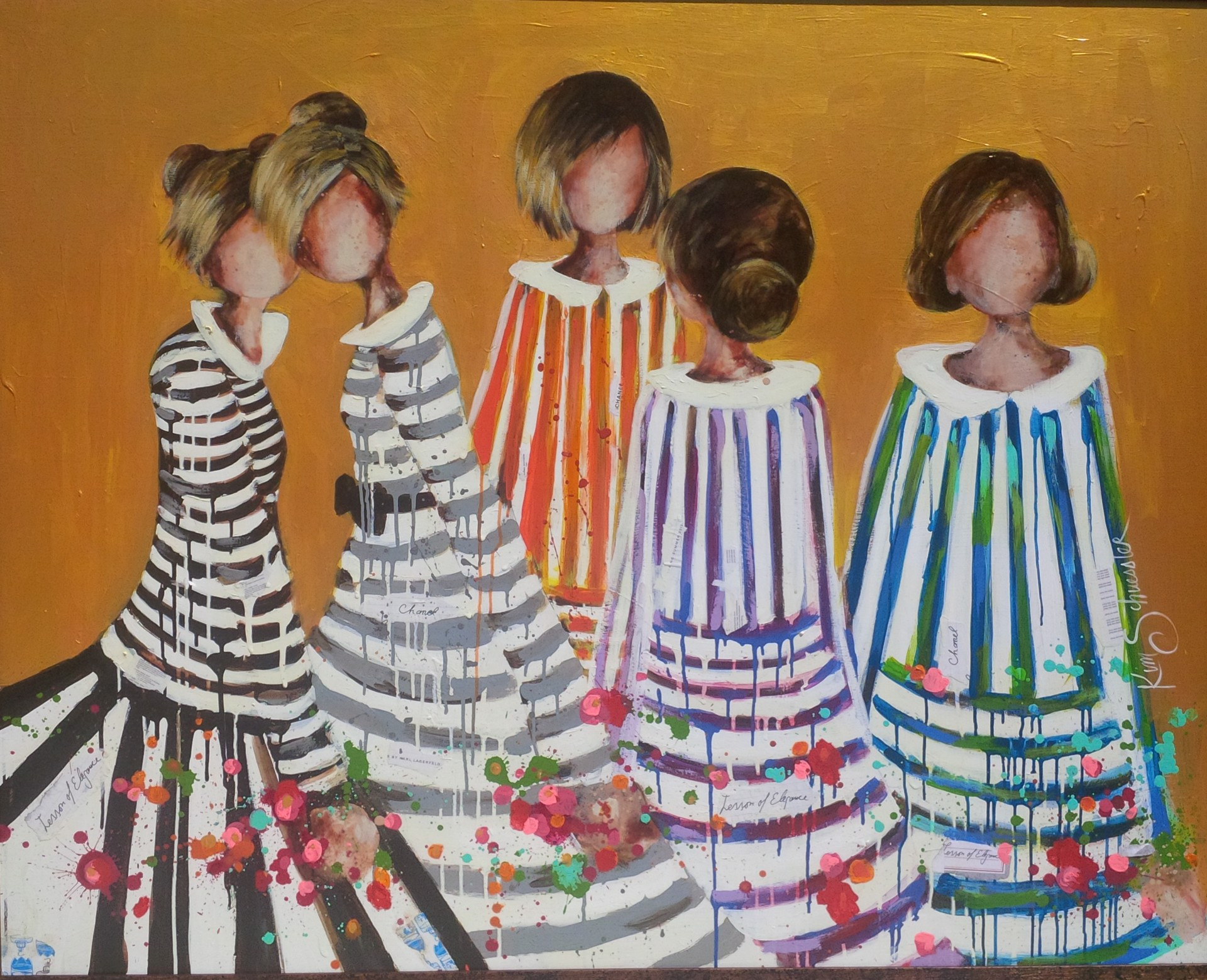 Stripes of Goodness and Gold by Kim Schuessler