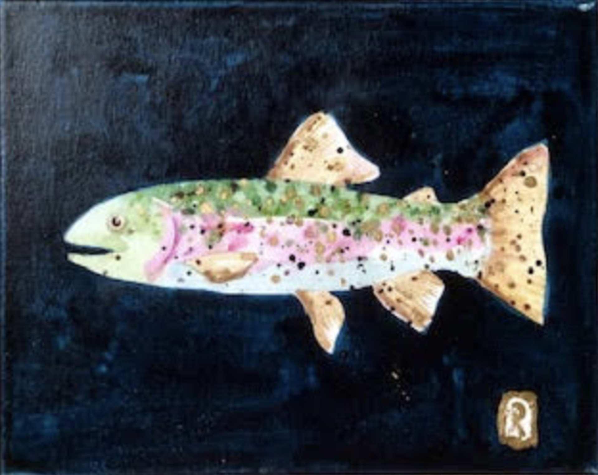 Indigo Small Fry II by Laura Roebuck