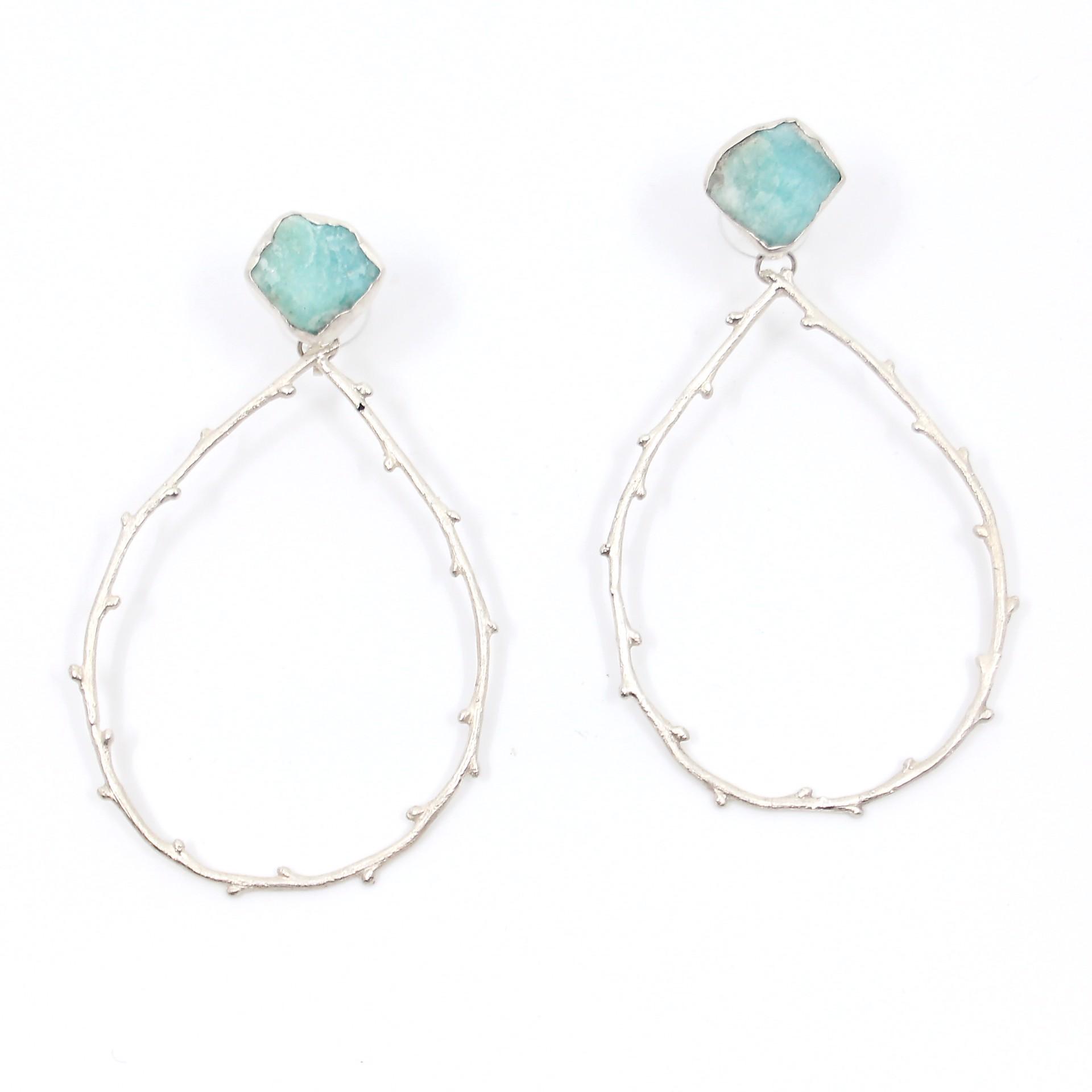 Amazonite Tetra Earrings by Anna Johnson