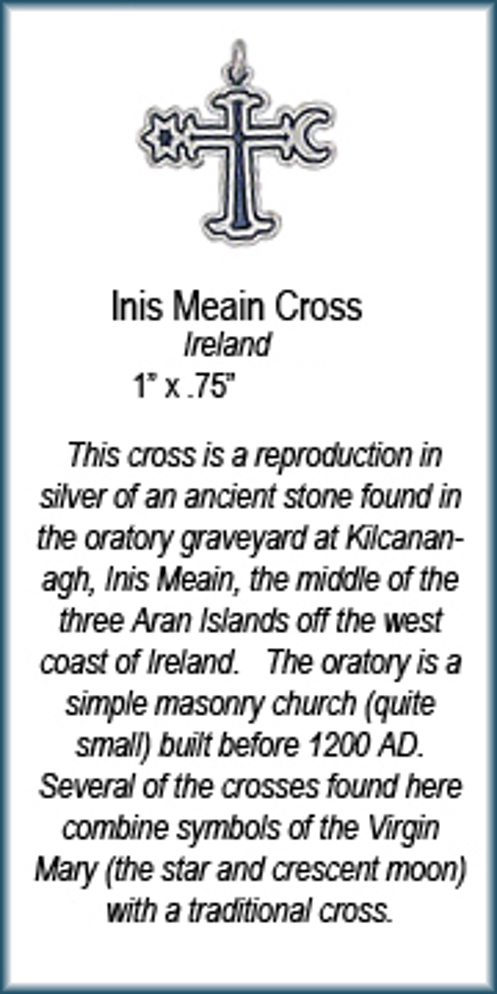 Pendant - Inis Meain Cross - 7348 by Deanne McKeown