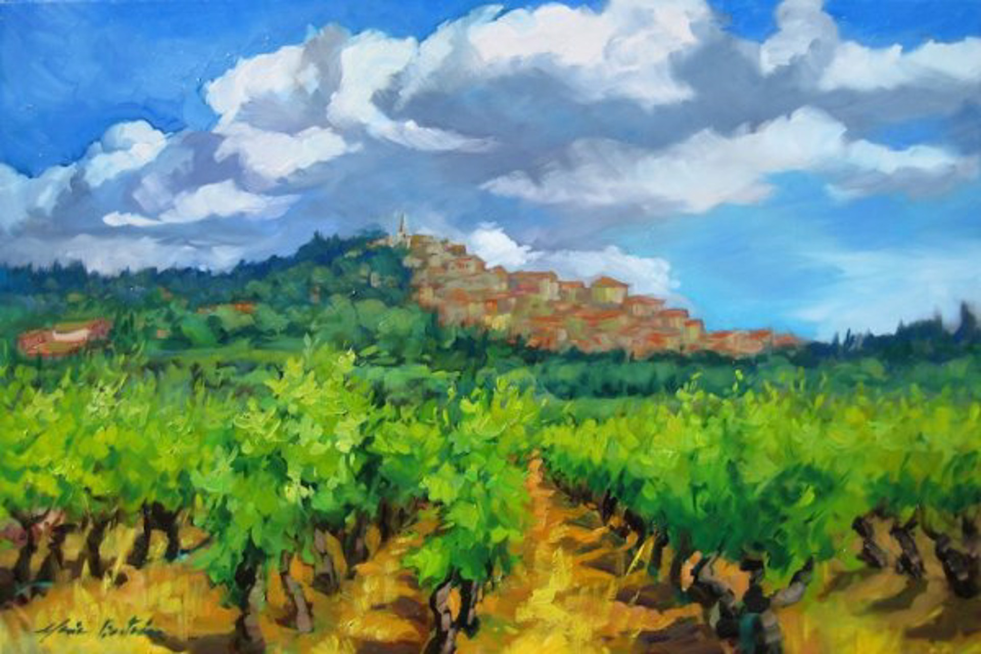 Bonnieux Vineyard by Maria Bertrán