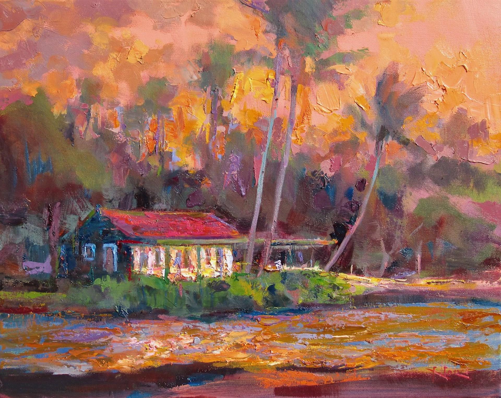 Eva At Sundown by Rod Cameron