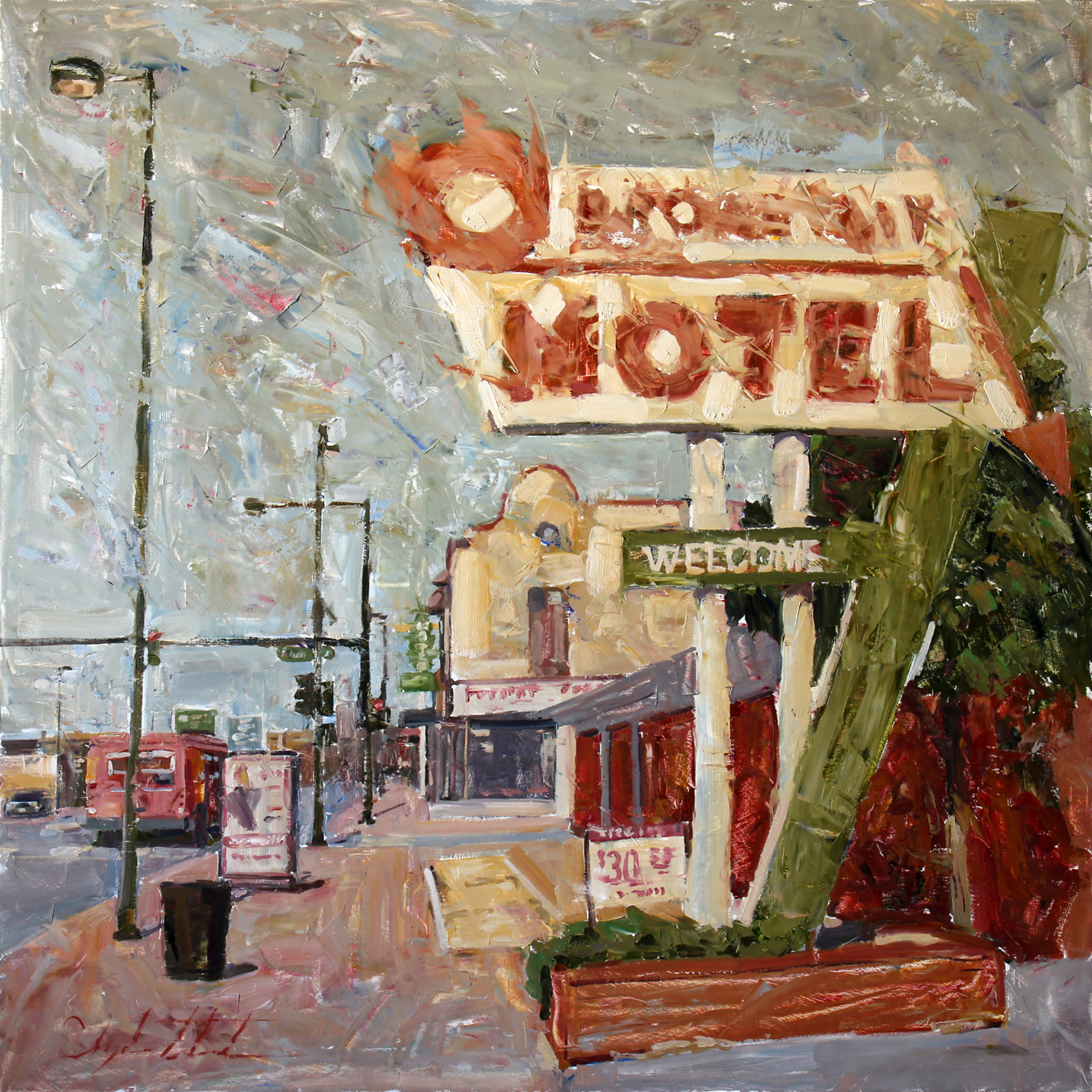 Sketch for Broadway Motel by Clyde Steadman