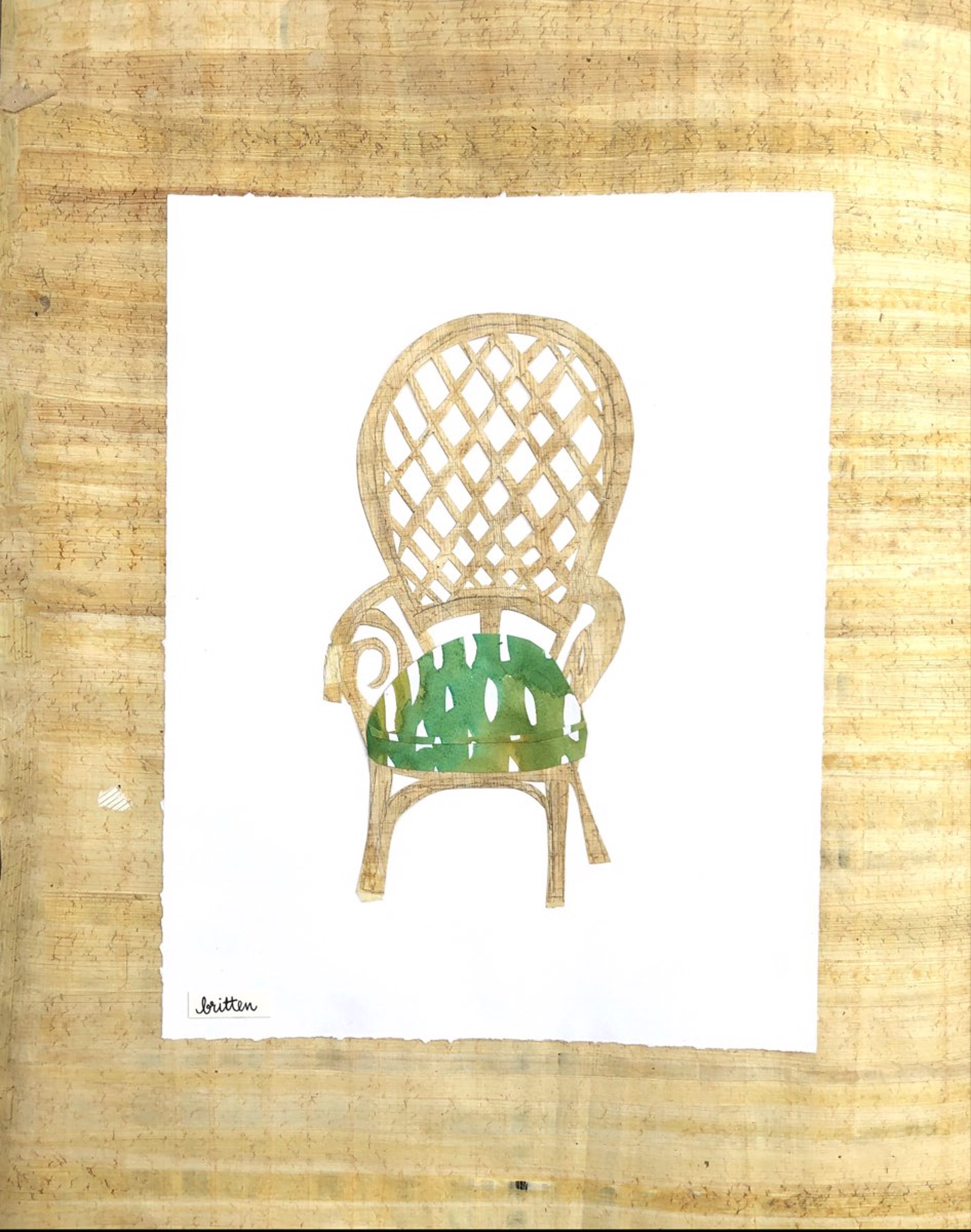 Peacock Chair II by Meg Britten