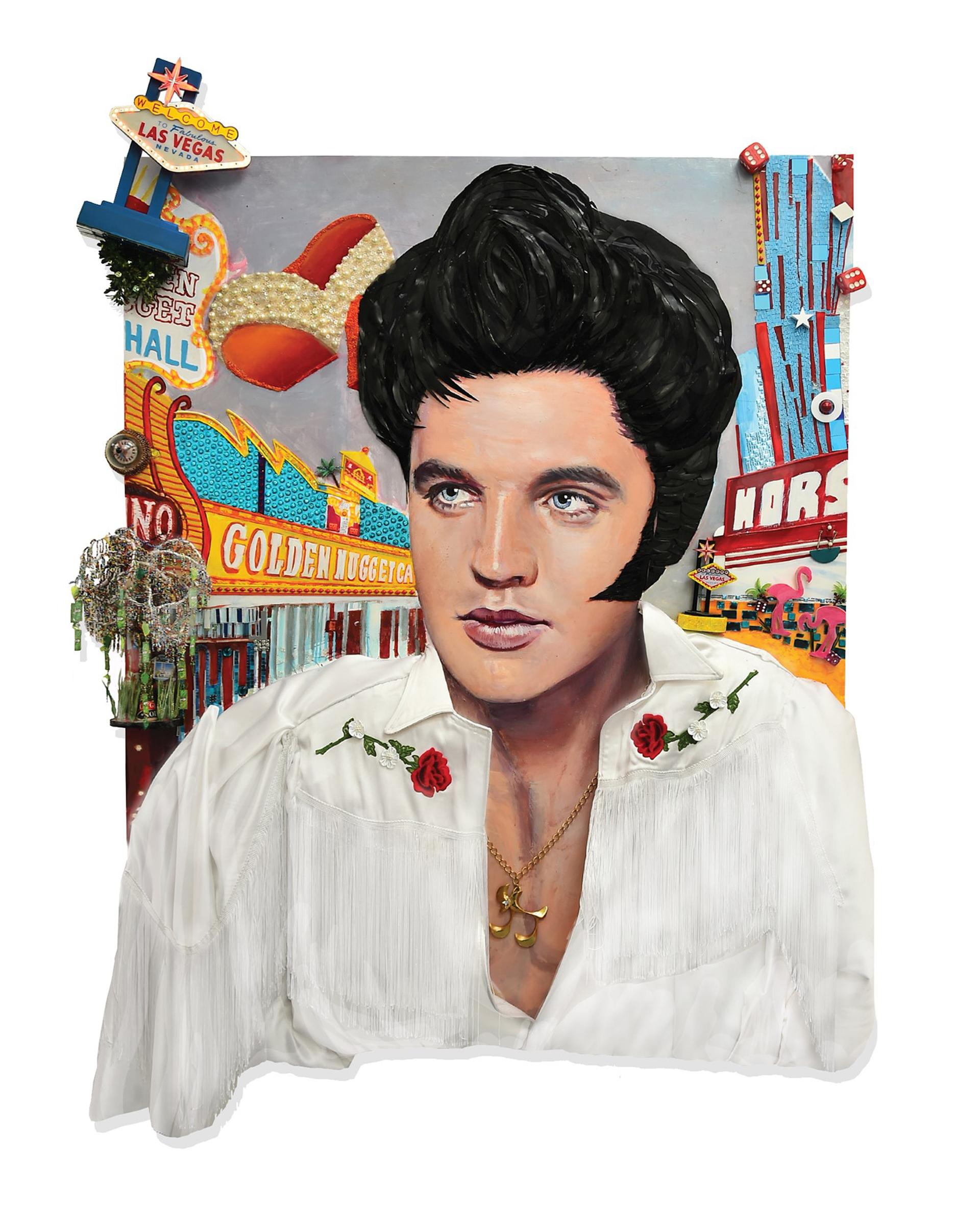 Elvis in Vegas by StrosbergMandel