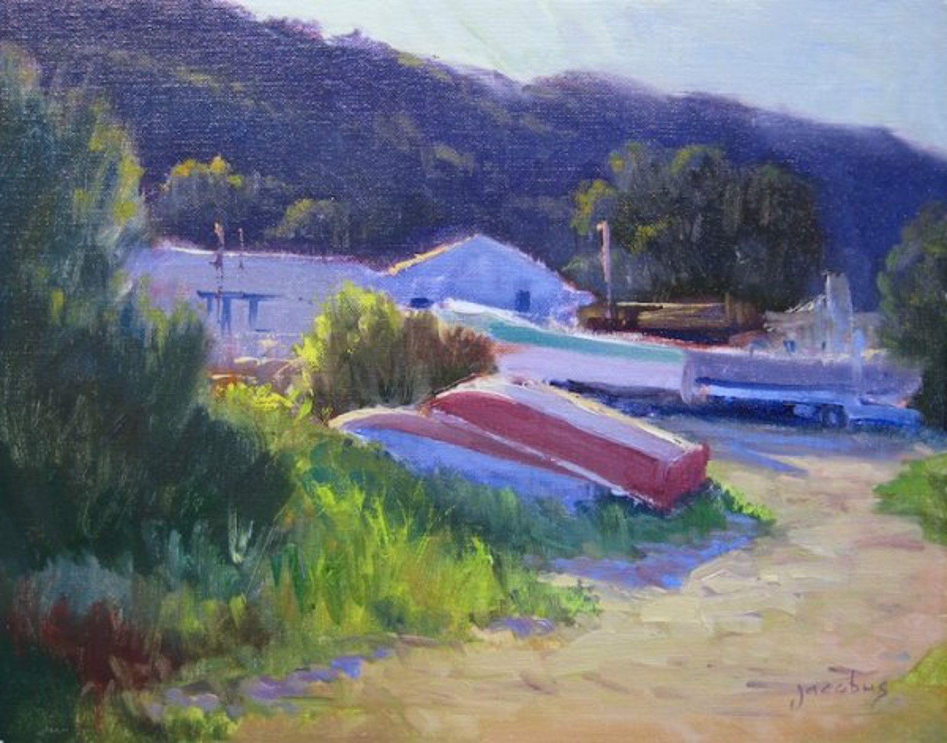 Boat Yard, Tomales Bay by Jacobus Baas