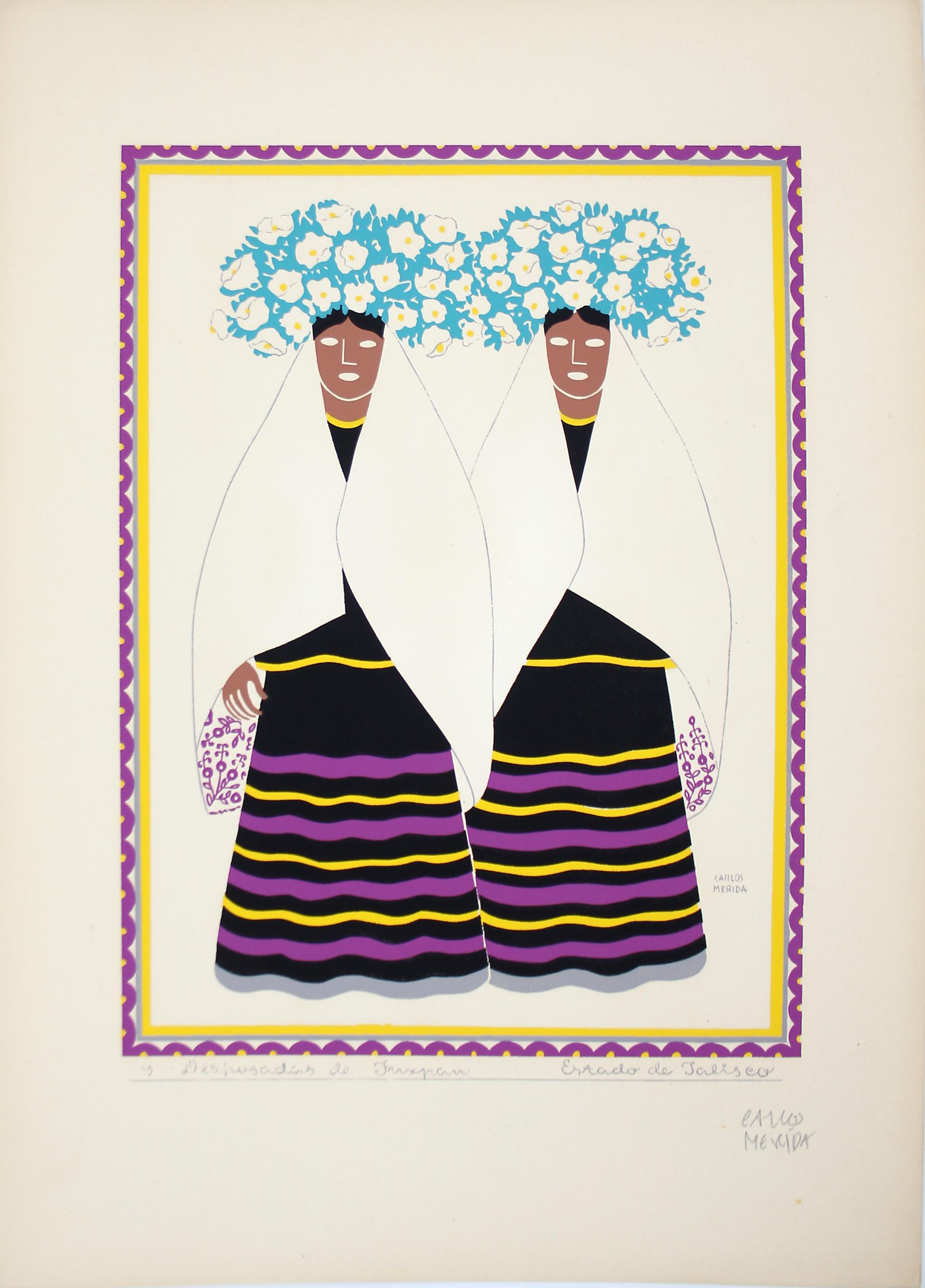 Desposadas de Tuxpan, Estado de Jalisco by Carlos Mérida (1891 - 1985)