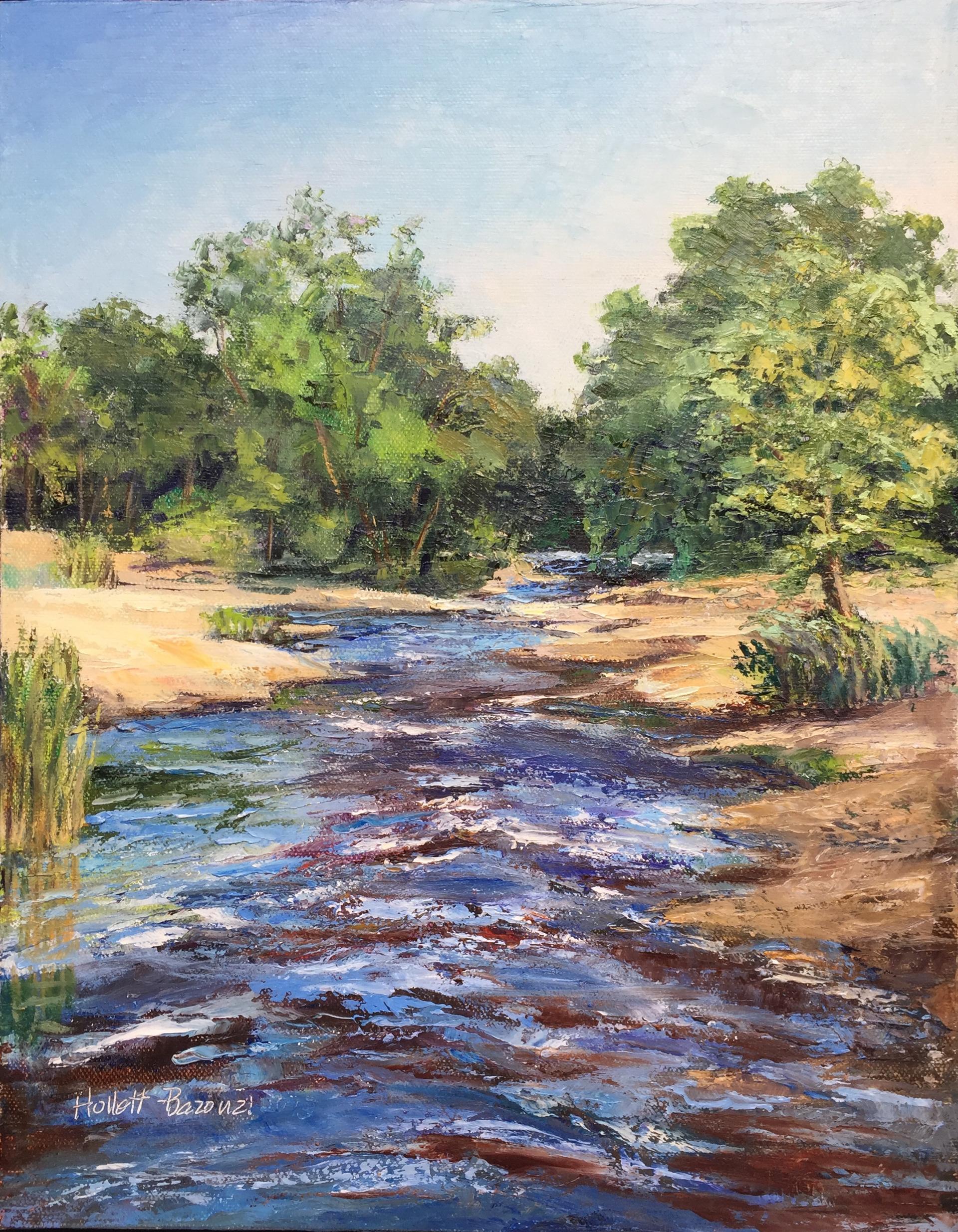 A Fine Day at Fine Creek by Linda Hollett-Bazouzi