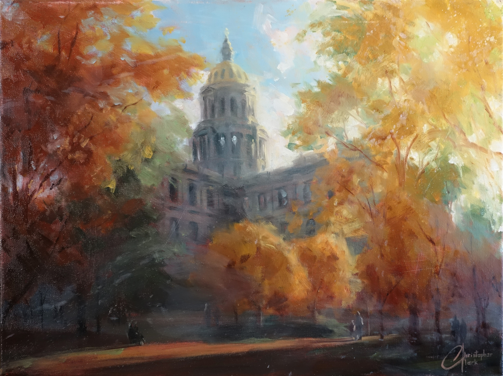 Denver Capitol Building in Autumn by Christopher Clark