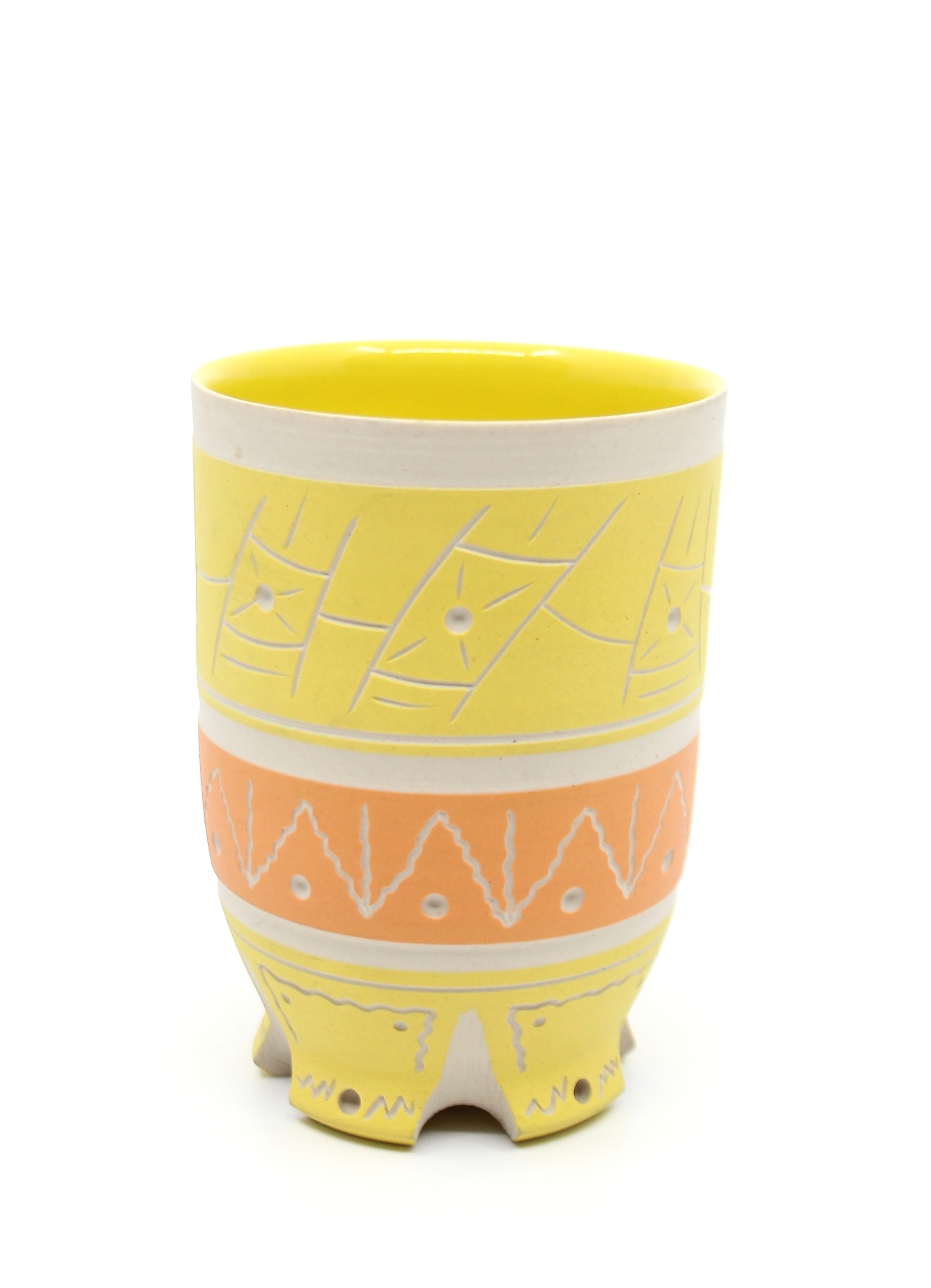 Yellow & Orange Cup by Chris Casey