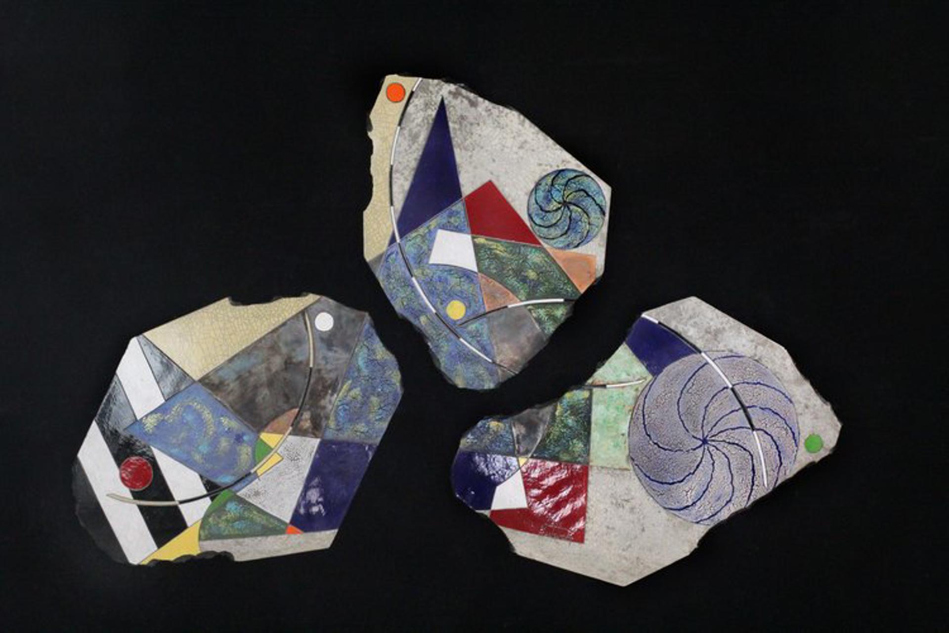 4th Street Blues (Triptych) by Michael Gustavson