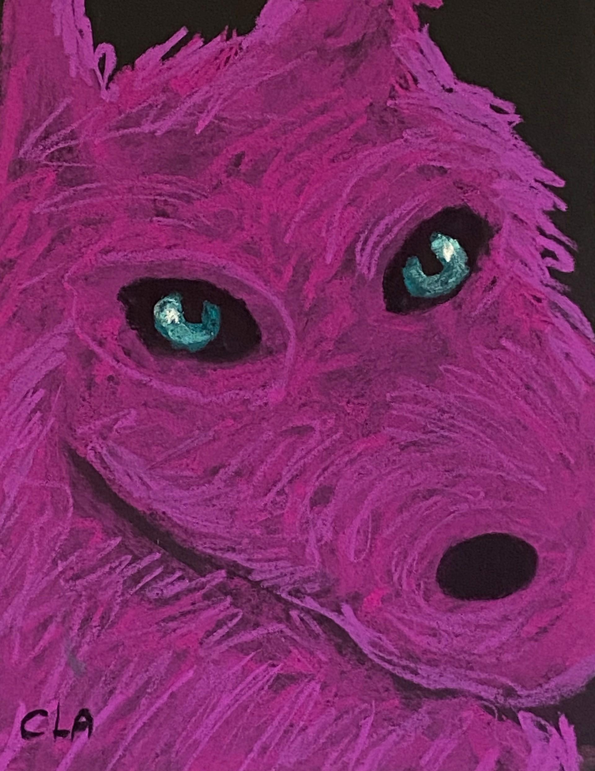Small Pink Wolf by Carole LaRoche