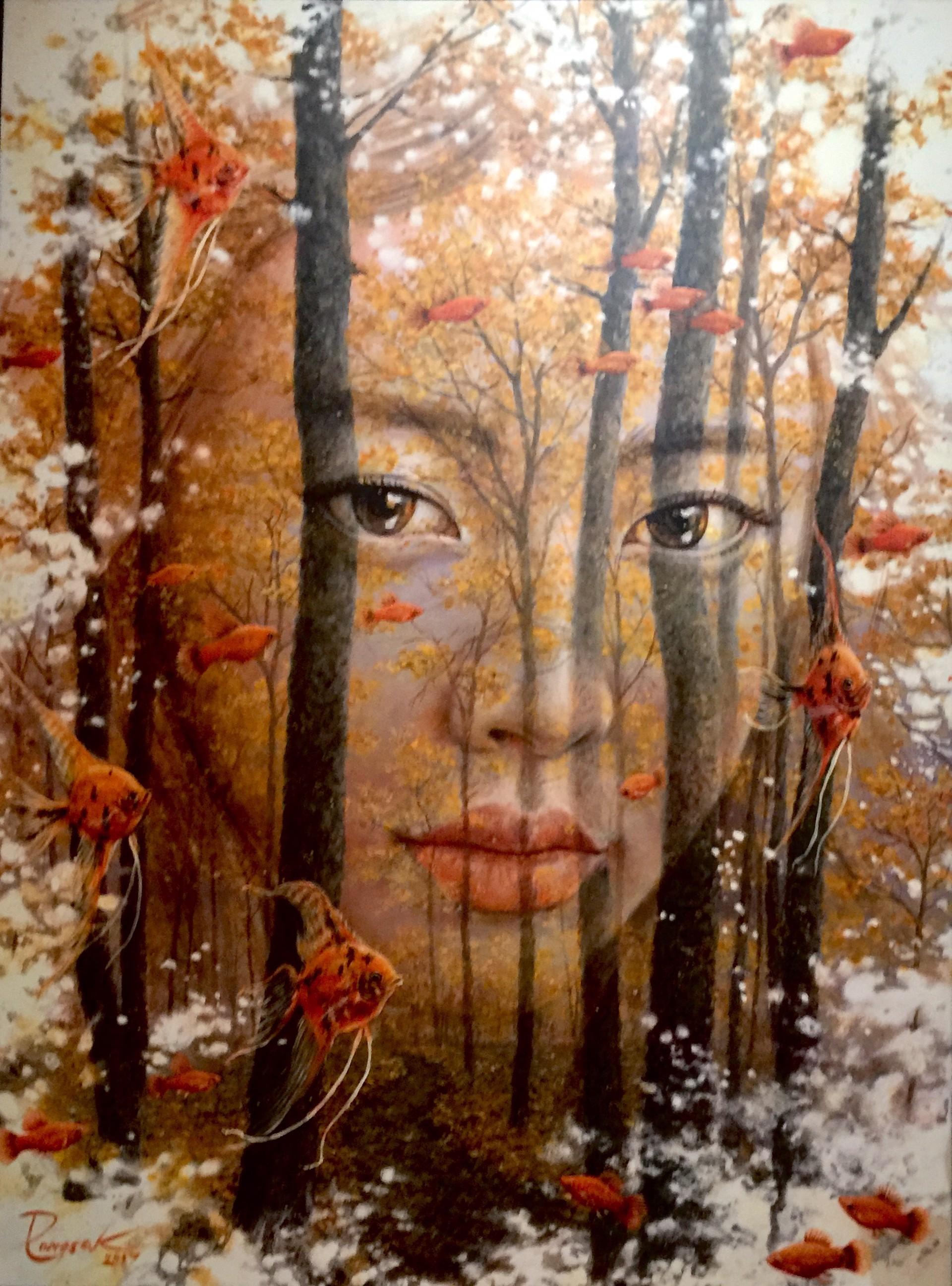 """Face in The Forest"" by Pongsak Kamjornrasamekit"