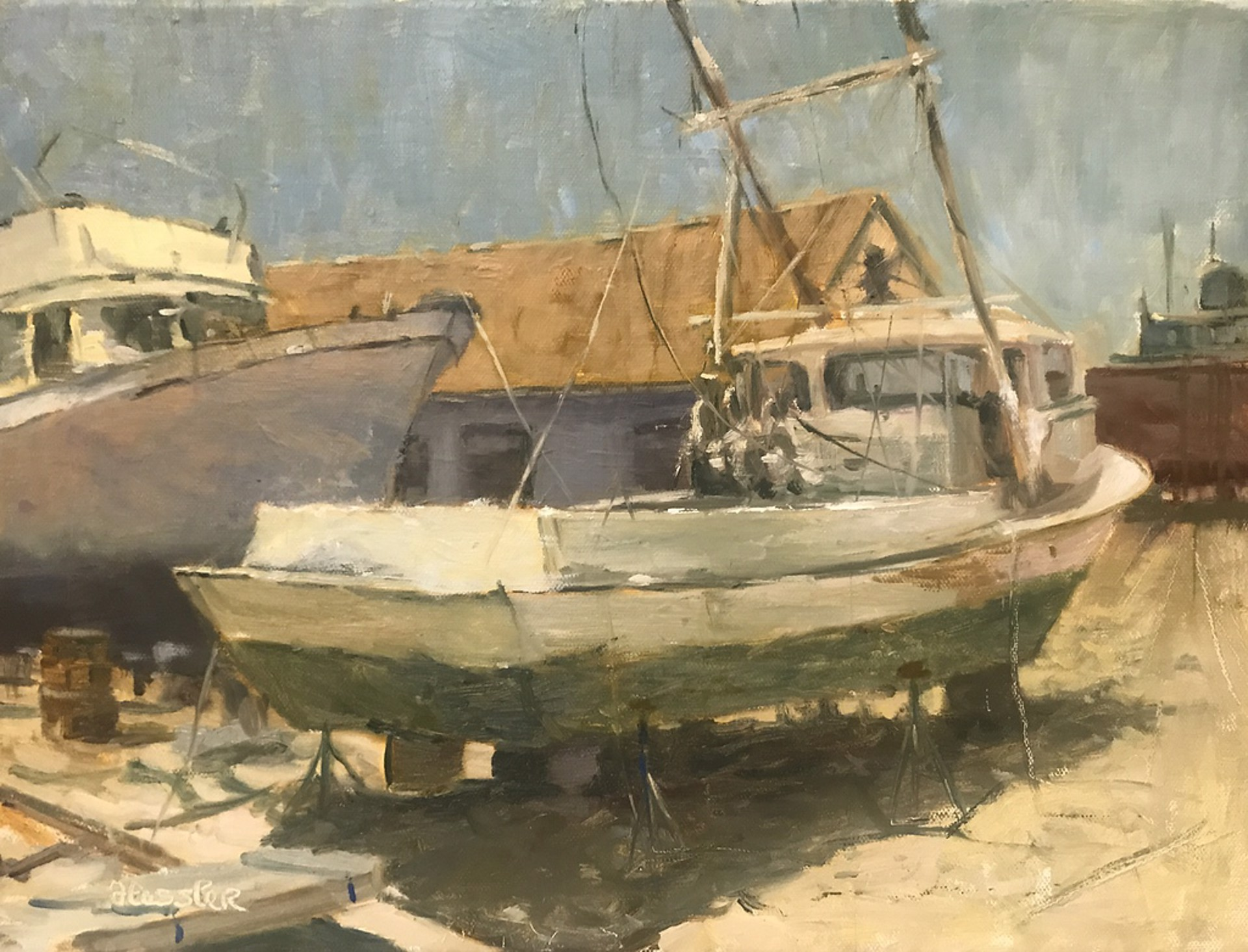 Tod and Ted's Boatyard, Beaufort by Steve Hessler