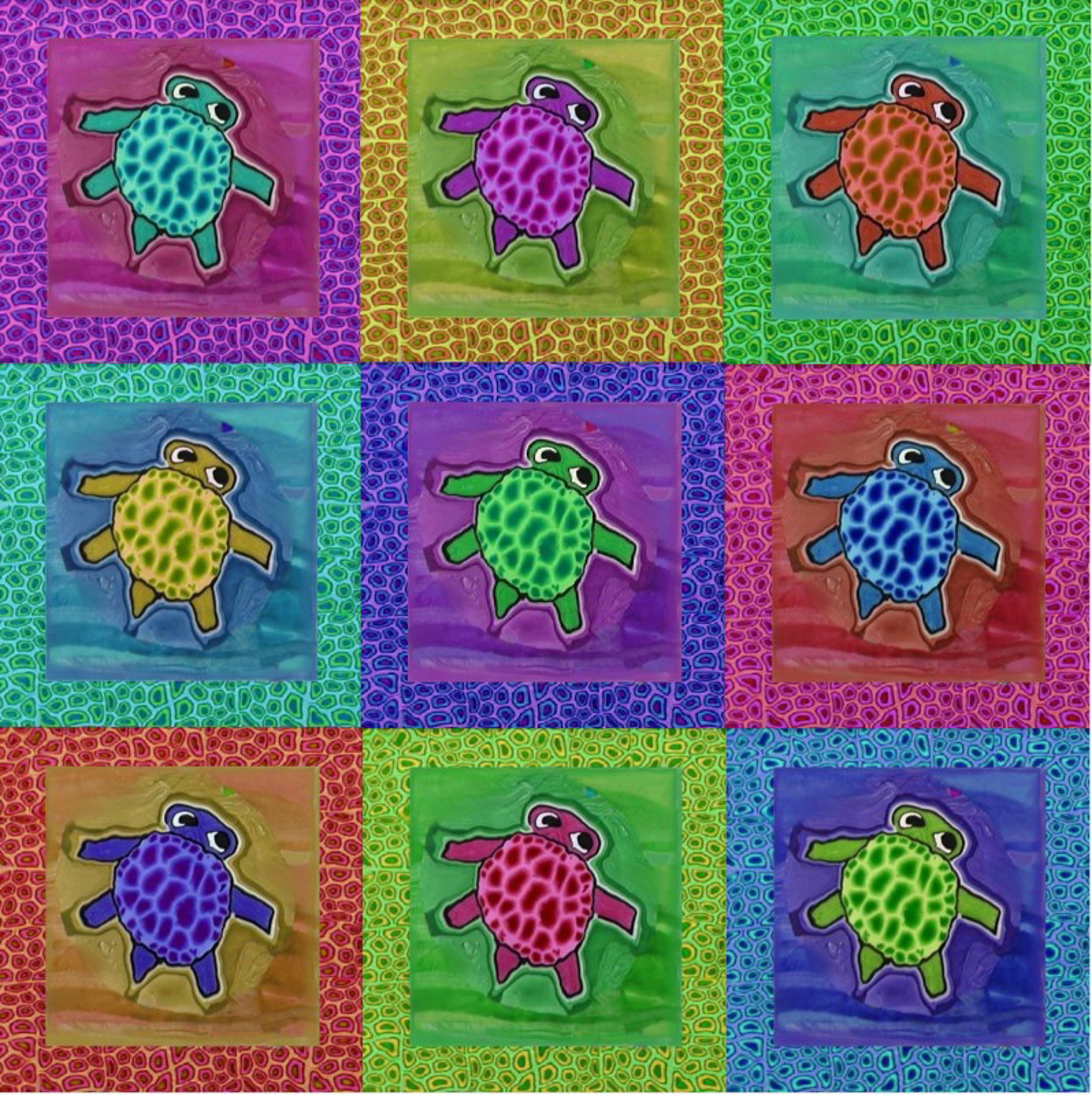 Nine Turtles by Samantha Long - Prints