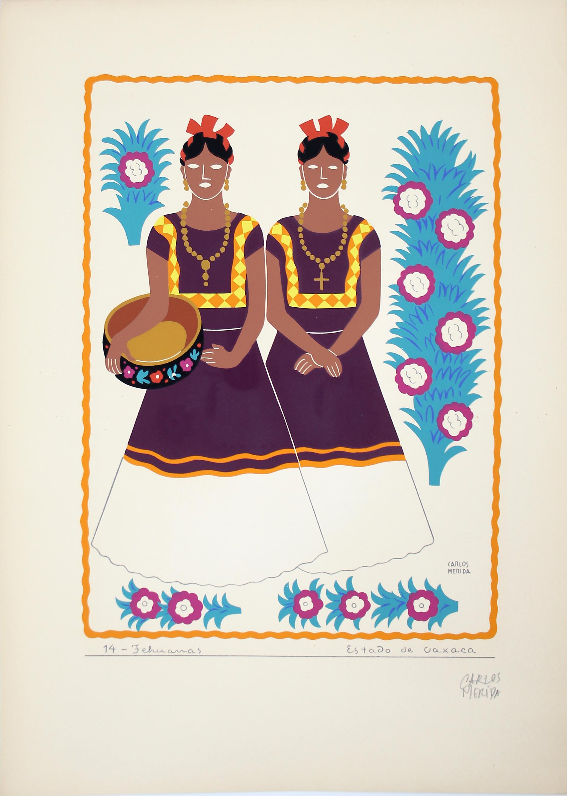 Tehuanas, Estado de Oaxaca by Carlos Mérida (1891 - 1985)