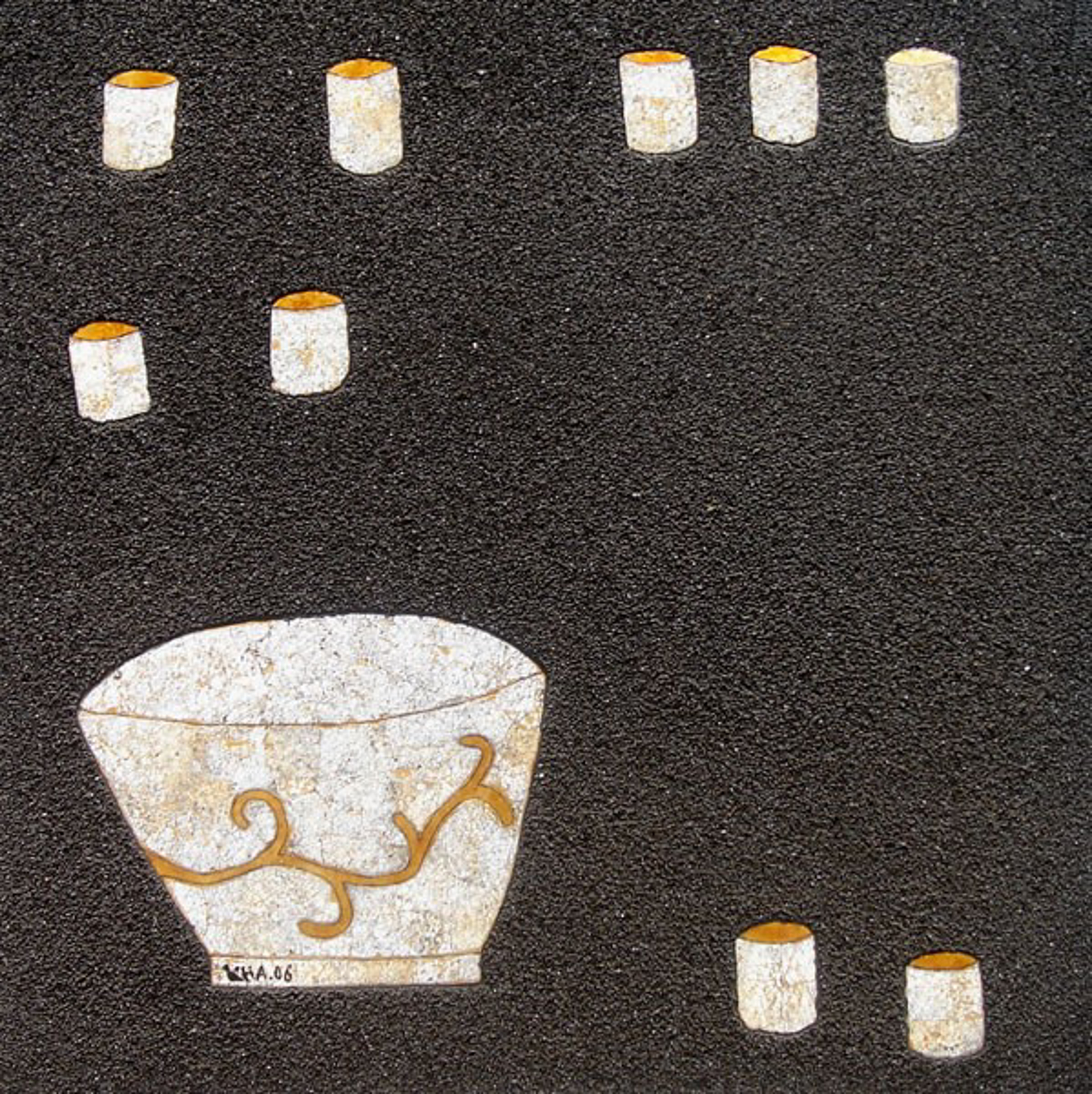 Bowl and Teacups II by Bui Cong Khanh