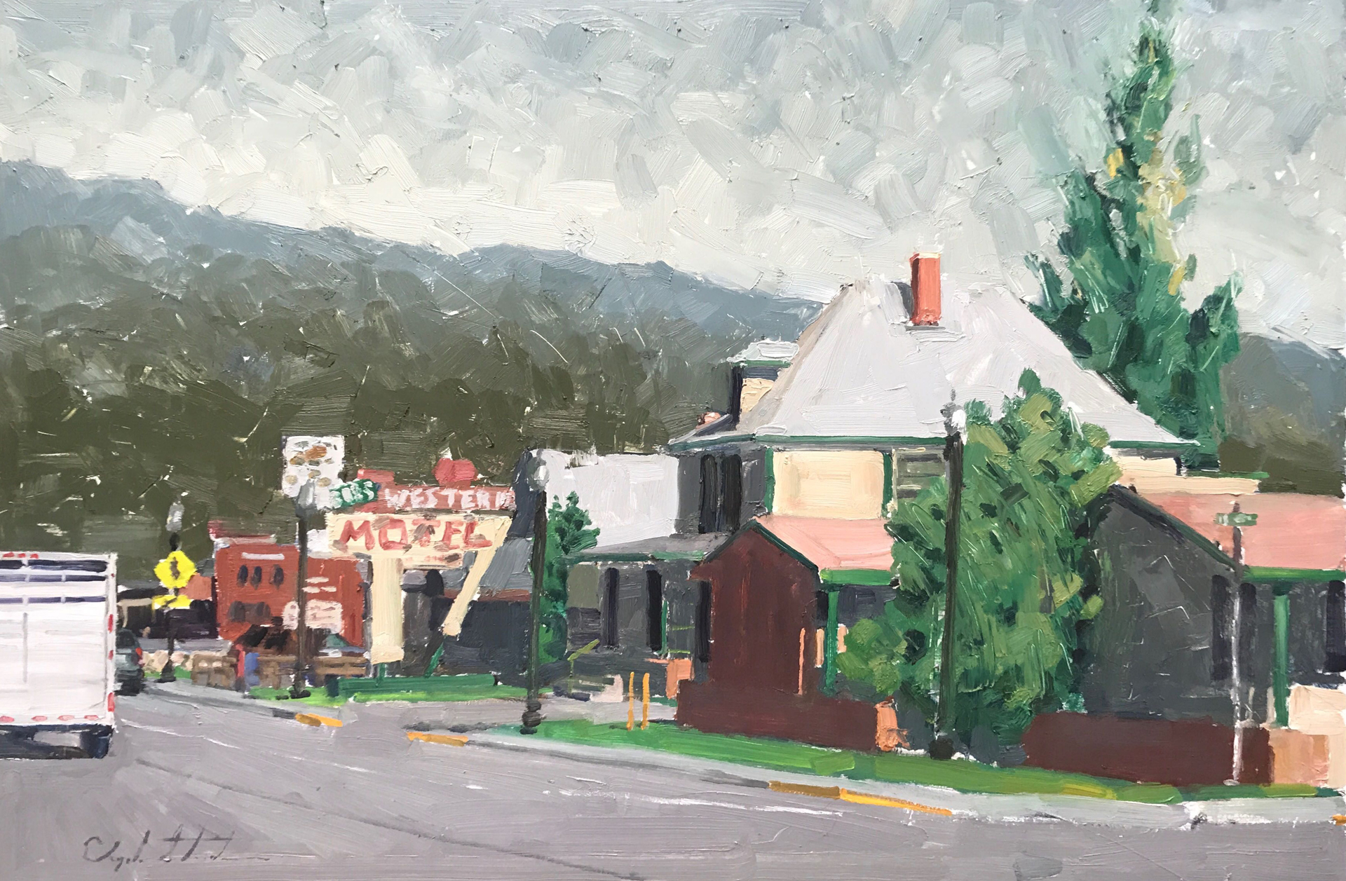 Western Motel by Clyde Steadman