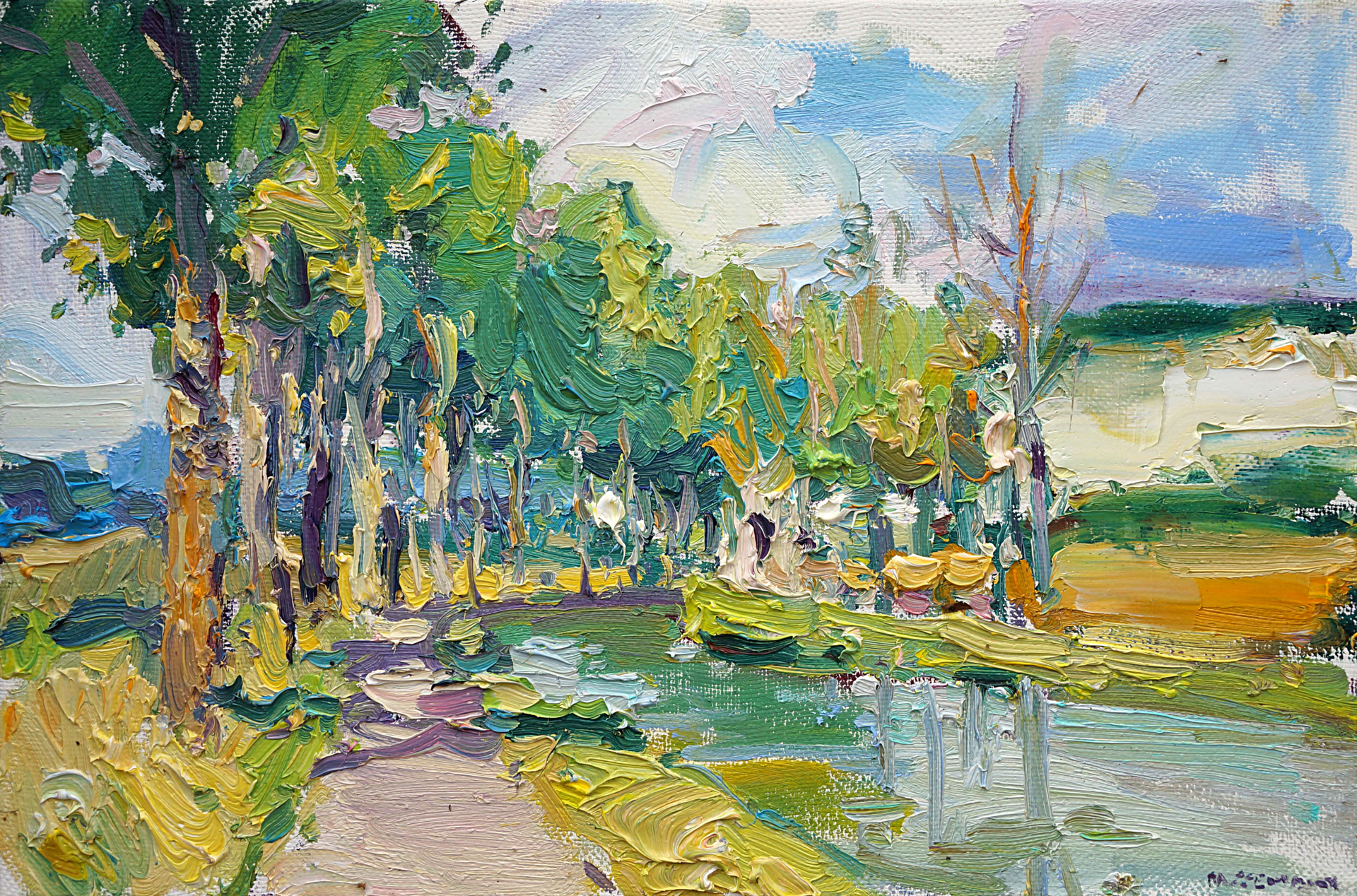 Early Summer by the Canal by Antonin Passemard