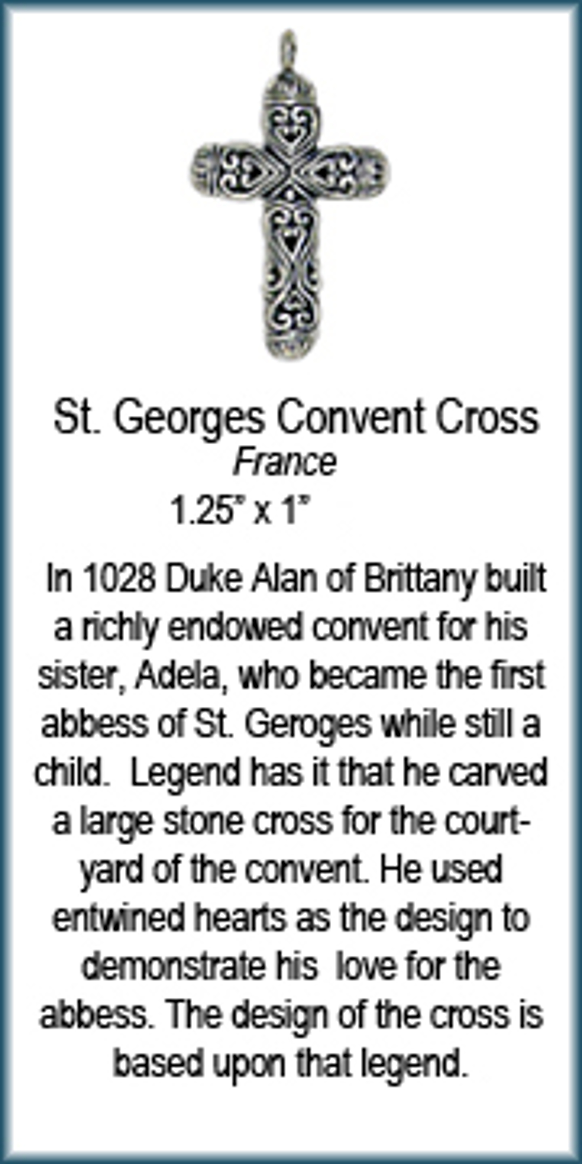 Pendant - Silver Cross of St George Convent  6941 by Deanne McKeown