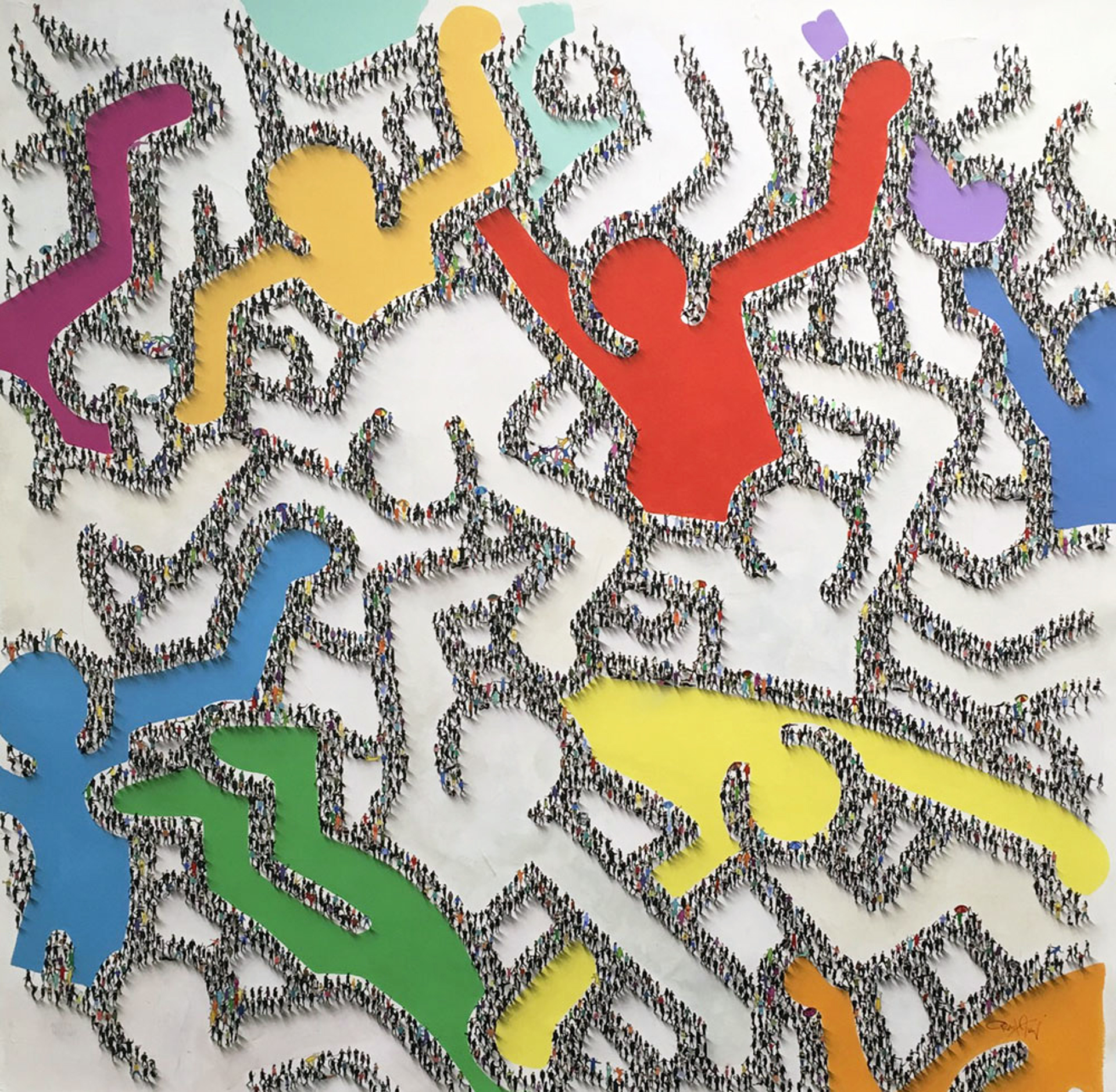 Haring the Masses (SOLD) by Craig Alan, Populus Homage