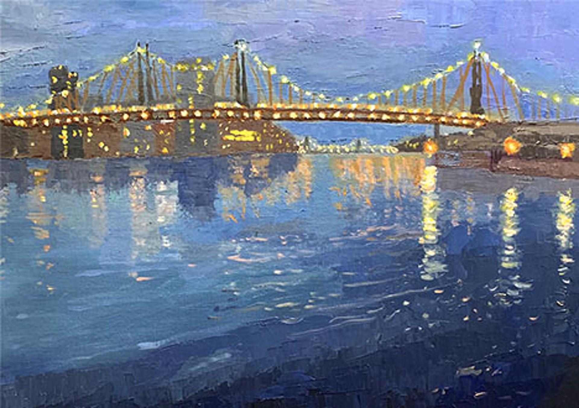Twilight Over Queensborough Bridge by Laura Murphey