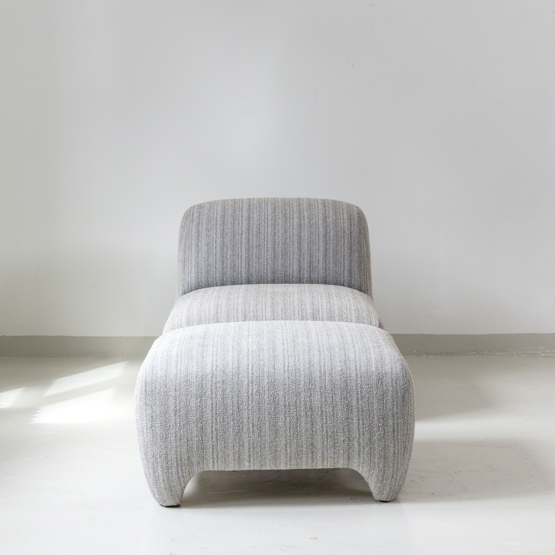 Slipper chair and ottoman by Tinatin Kilaberidze
