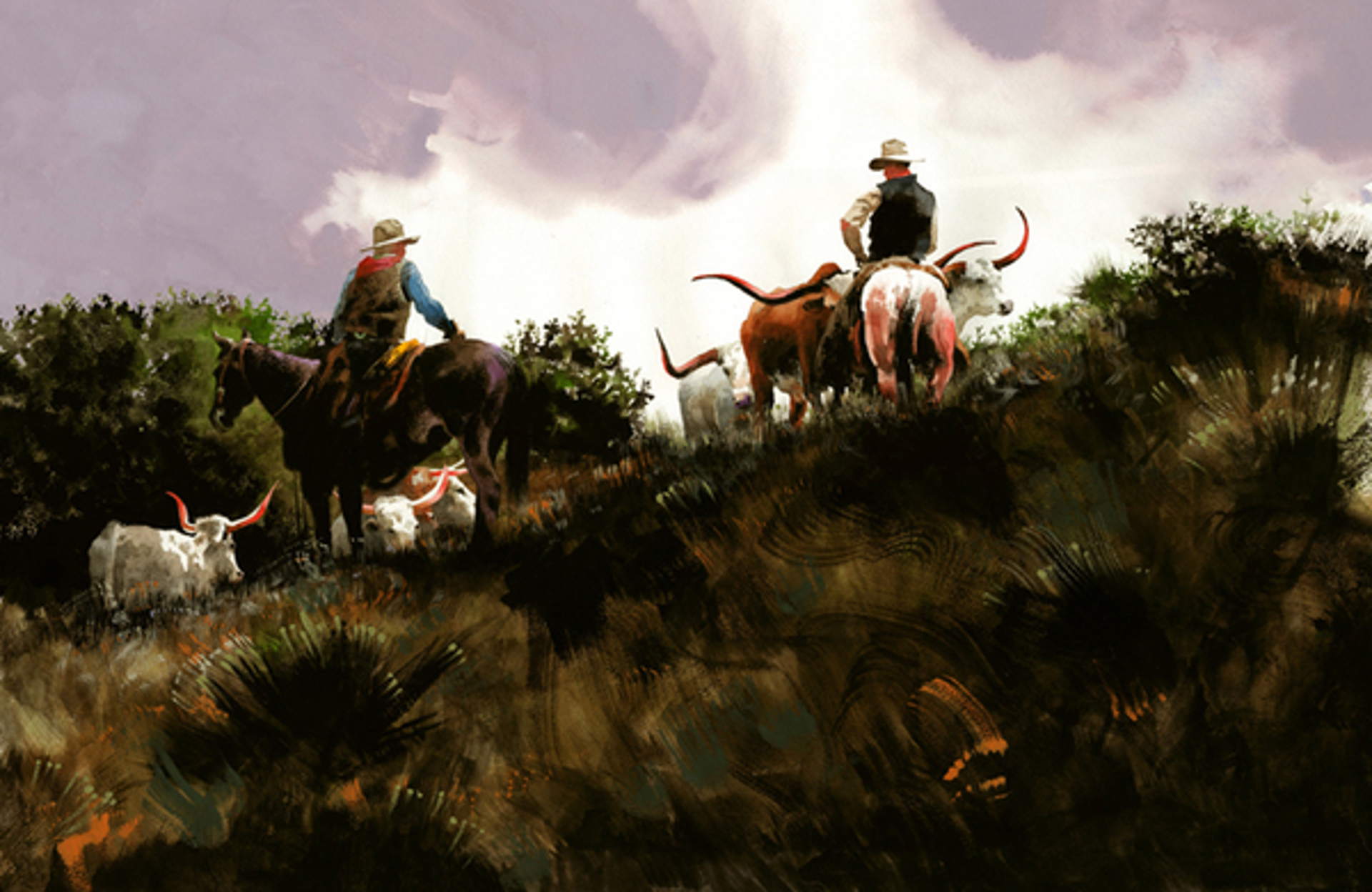 Collecting Longhorns by Don Weller
