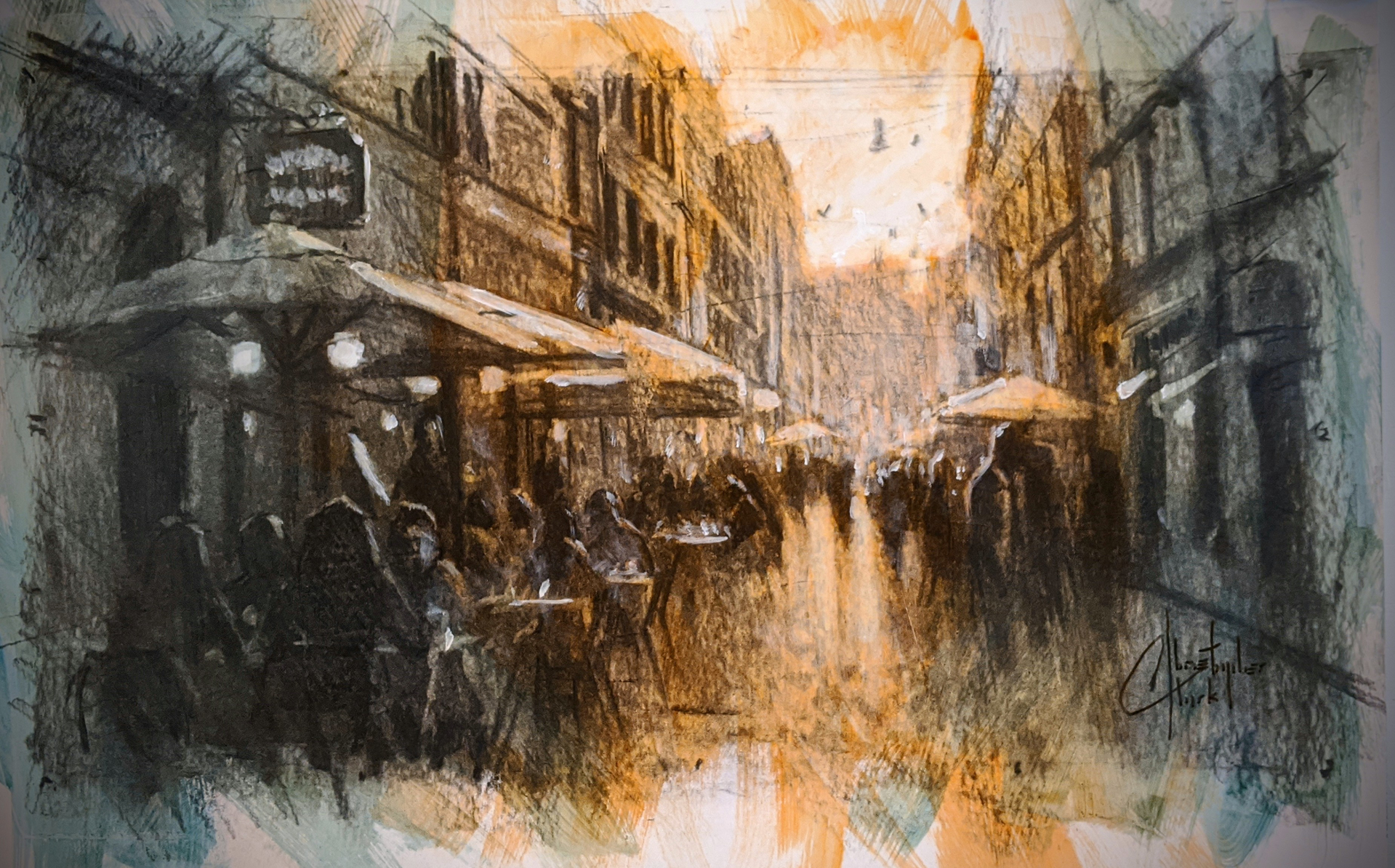 Sketch: Rome, Italy by Christopher Clark