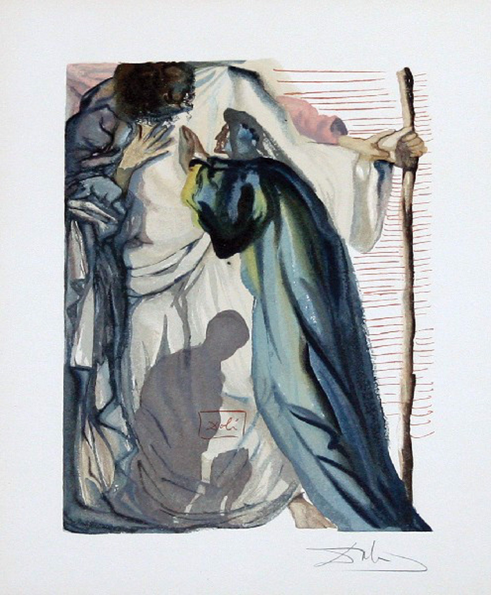 Purgatory Canto 14: A Spirit Questions Dante from The Divine Comedy by Salvador Dali (1904 - 1989)